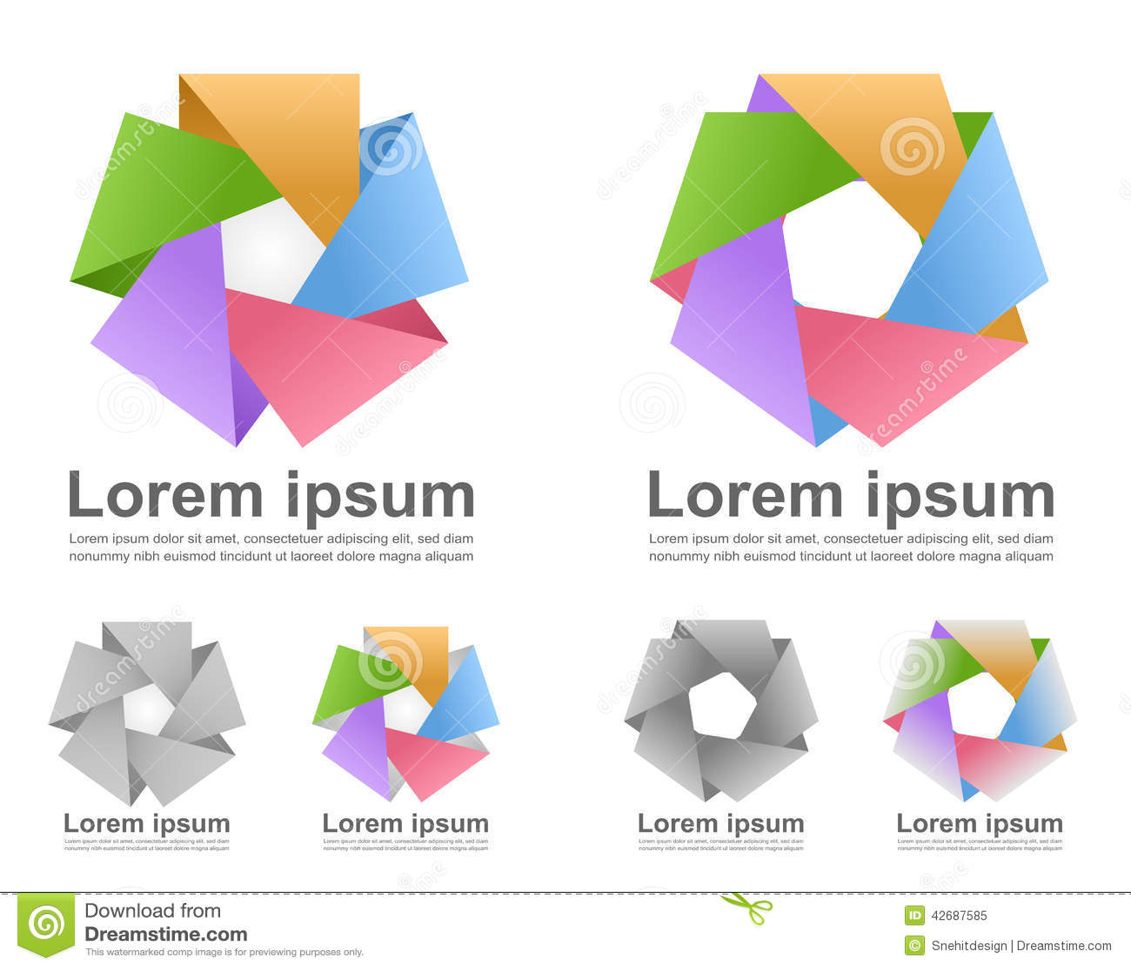 Colorful infinite loop icons