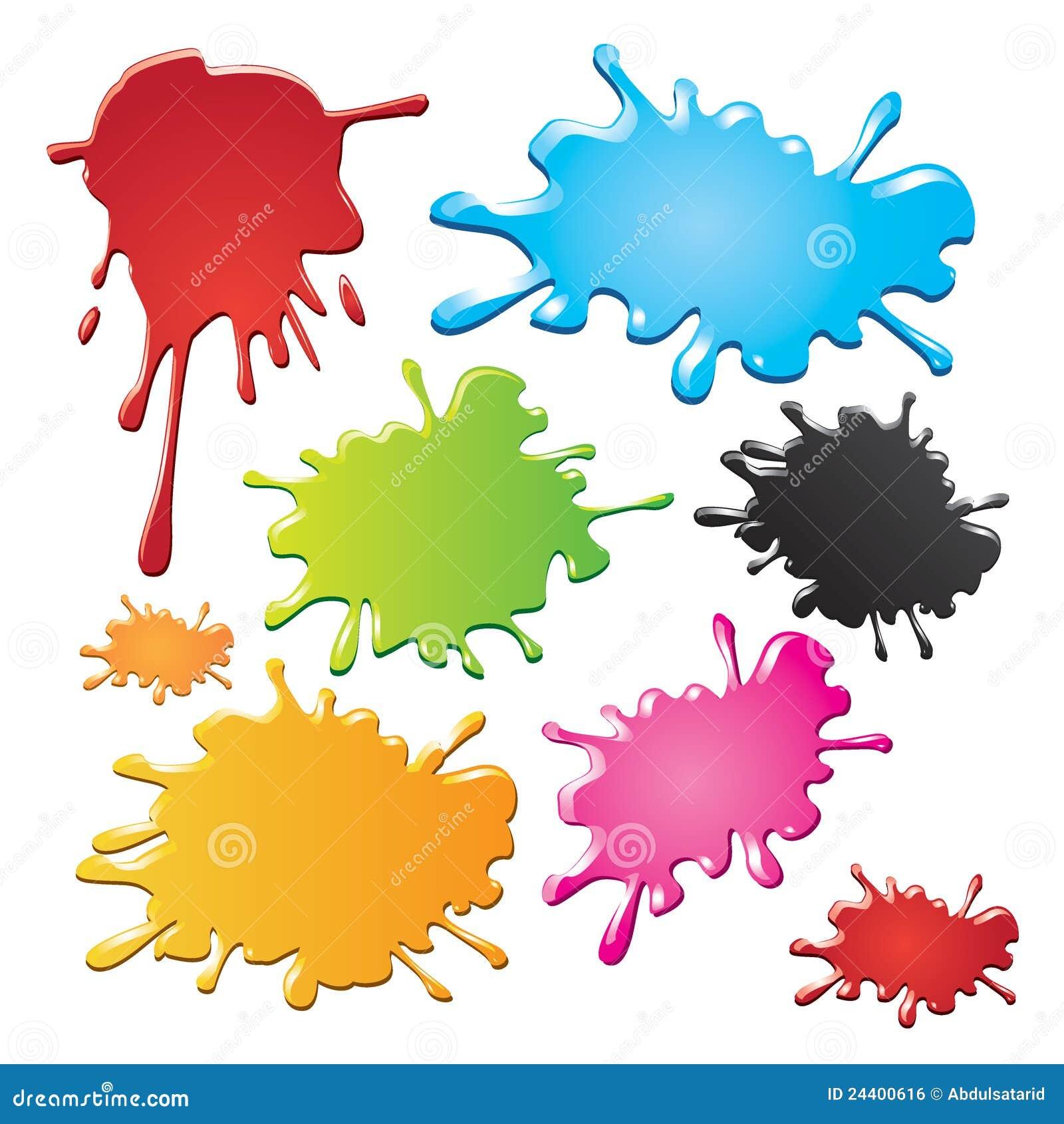 Pics photos watercolor splash background - Colorful Ink Splashes Royalty Free Stock Image Image