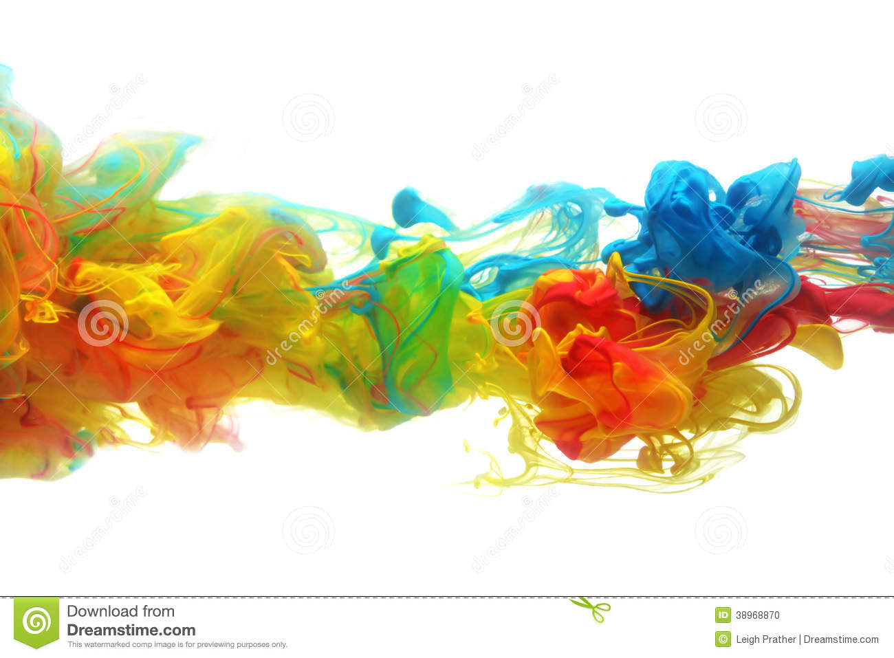 Colorful Ink In Water Stock Photo Image 38968870