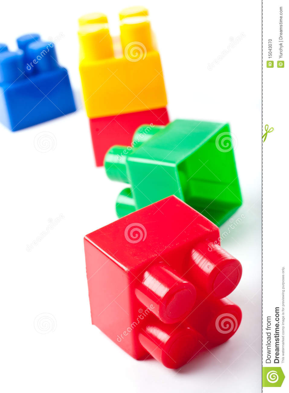 Colorful isolated building blocks toy