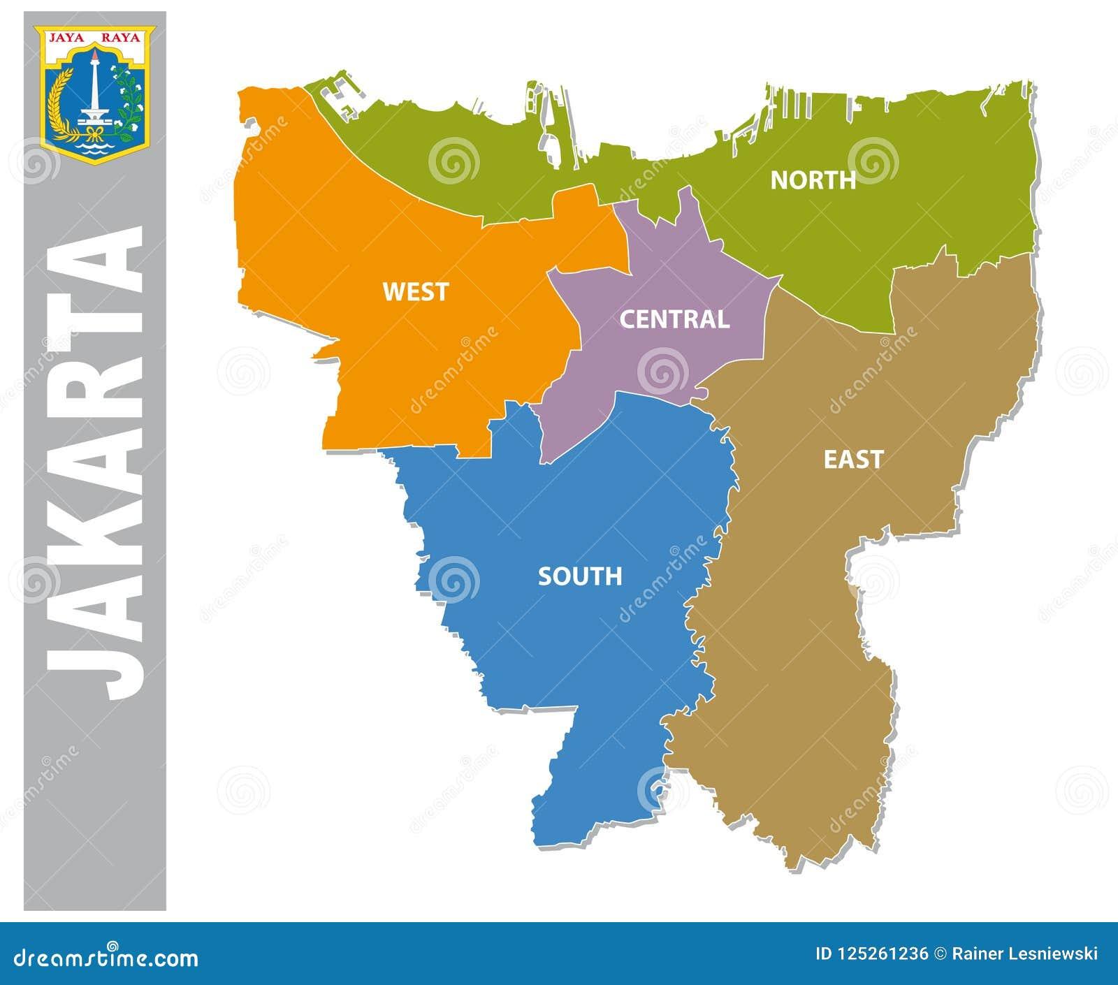 North Jakarta Map on
