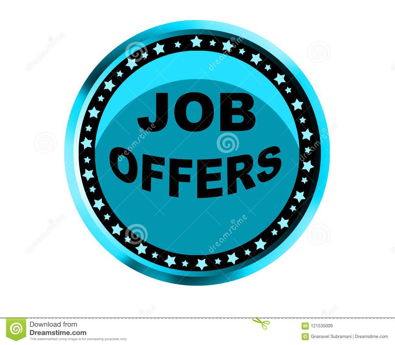 Colorful Job Offers Web Button Click, Application Stock