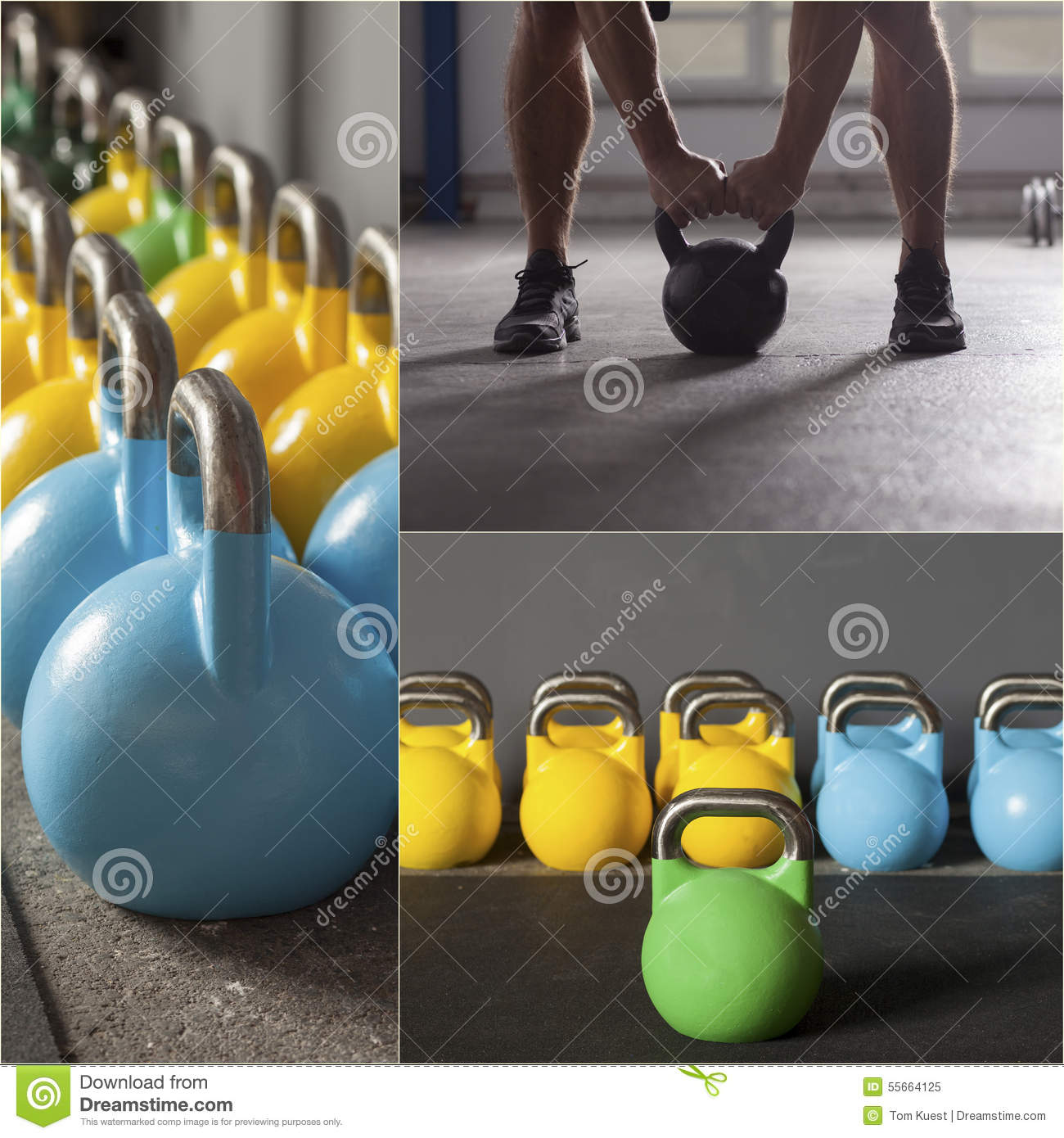 Colorful Kettlebells In A Row Stock Image - Image of bells ...