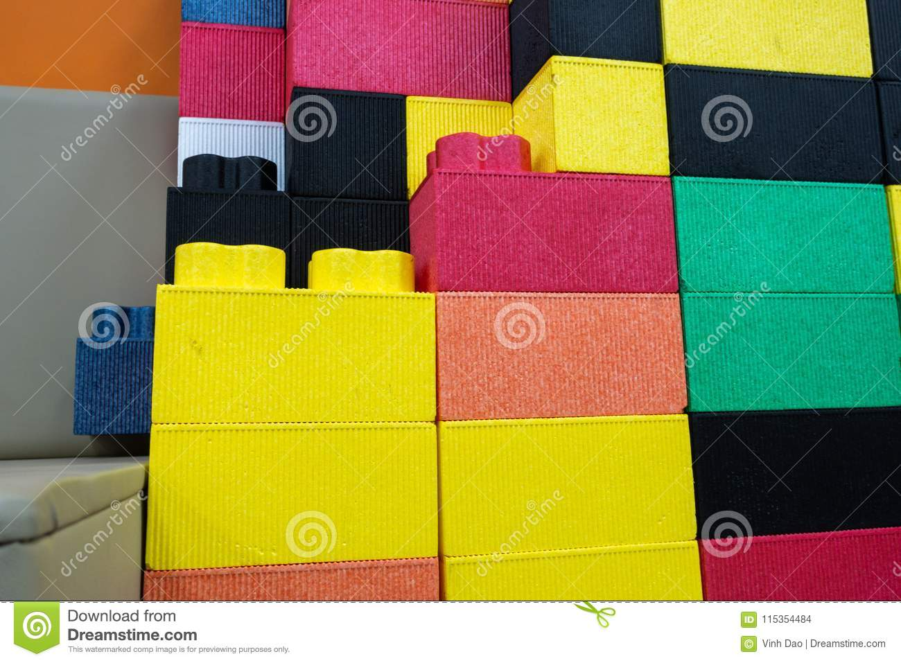 Colorful Kids EPP Foam Toy Blocks  Children Safe Toy Stock Photo