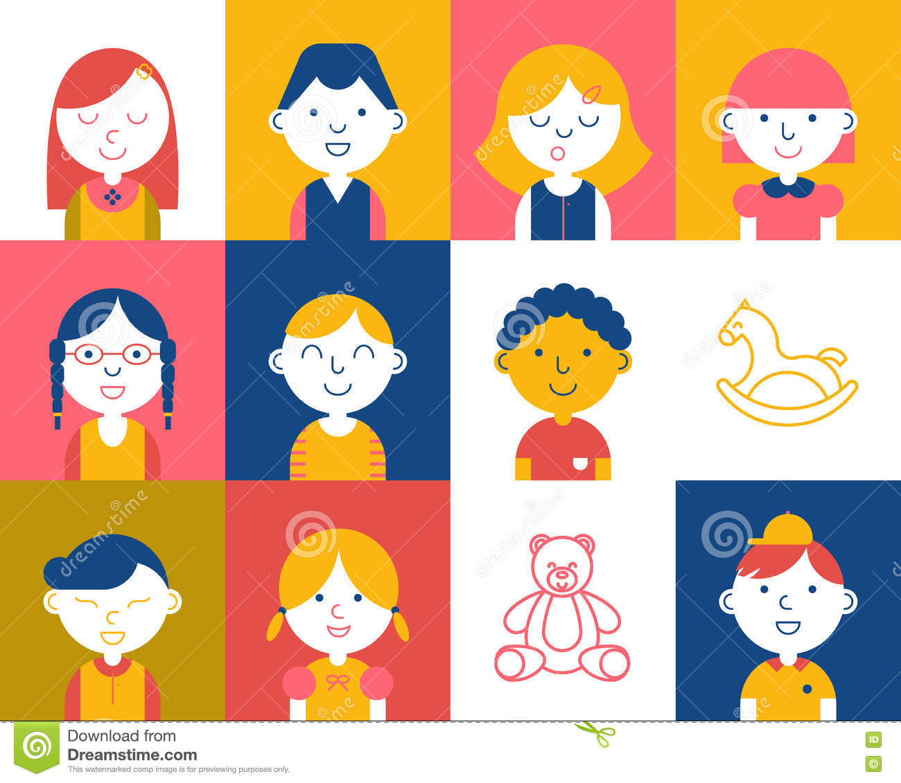 Colorful kids icon stock vector. Illustration of cheerful - 78142057