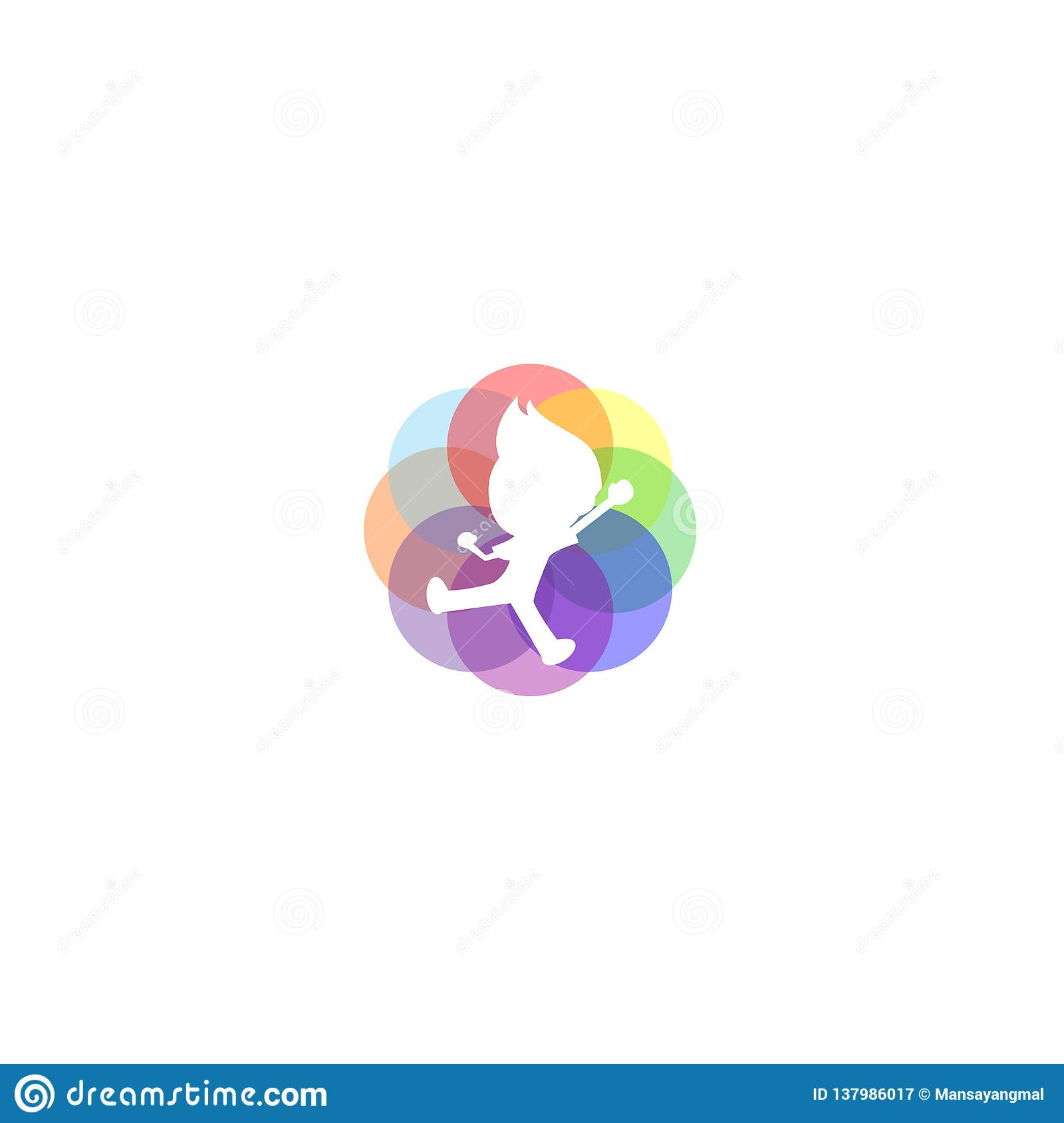 colorful kids jump logo inspiration stock illustrationcolorful kids jump logo inspiration