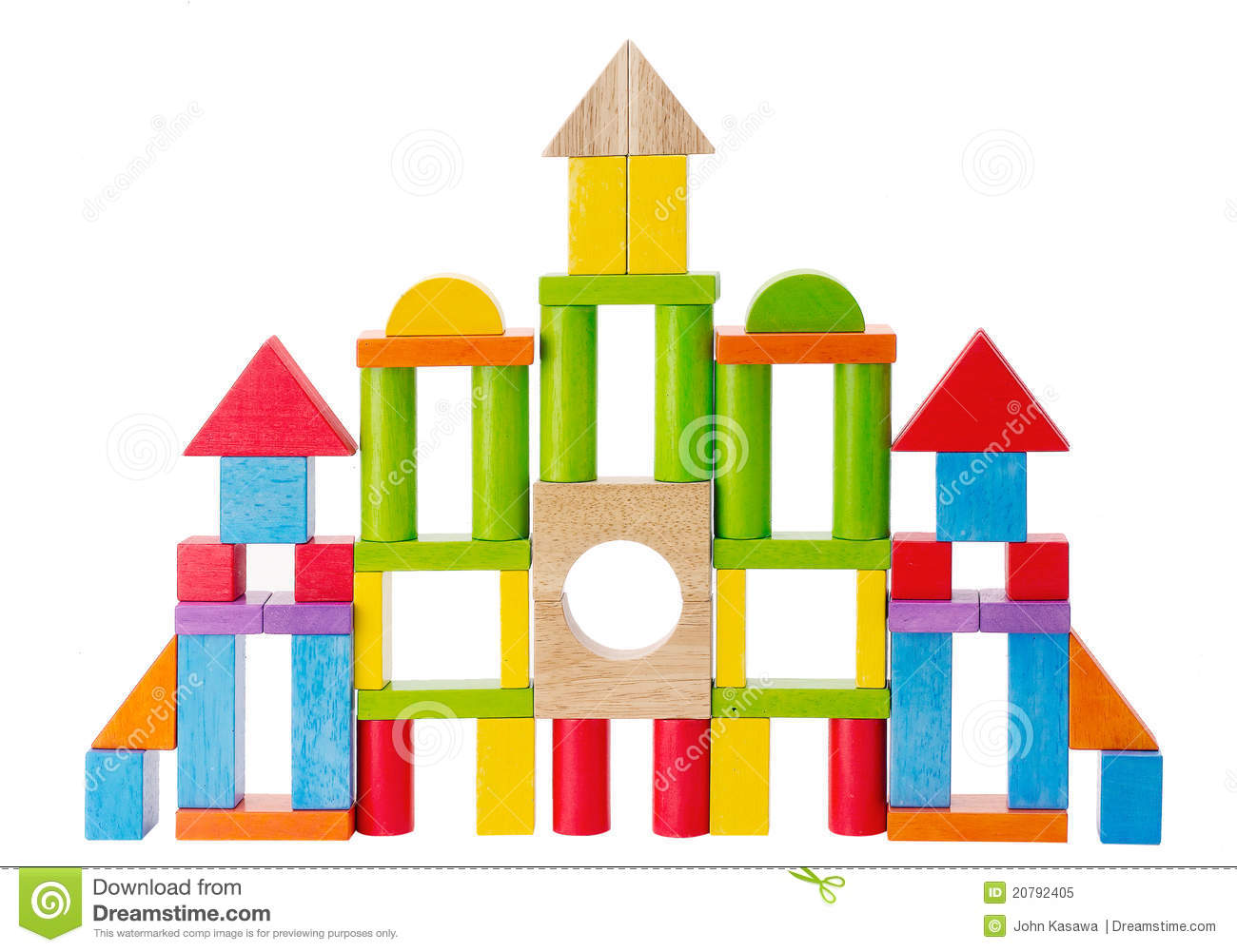 ... there imagine on wooden toy blocks to build the castle or city's wall