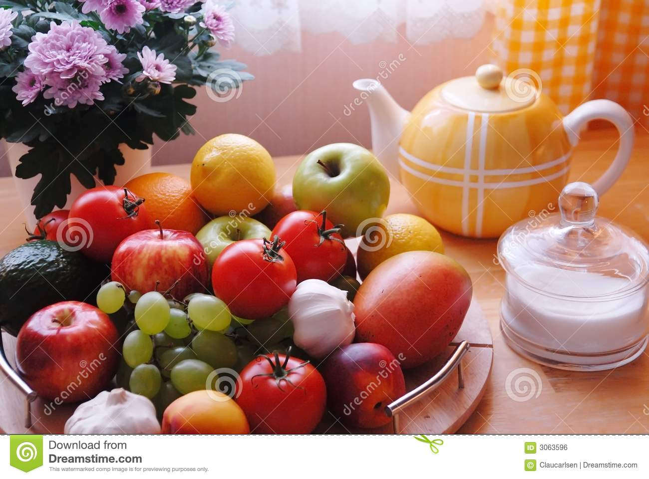 Colorful Kitchen Table Stock Photo Image Of Sugar Yellow