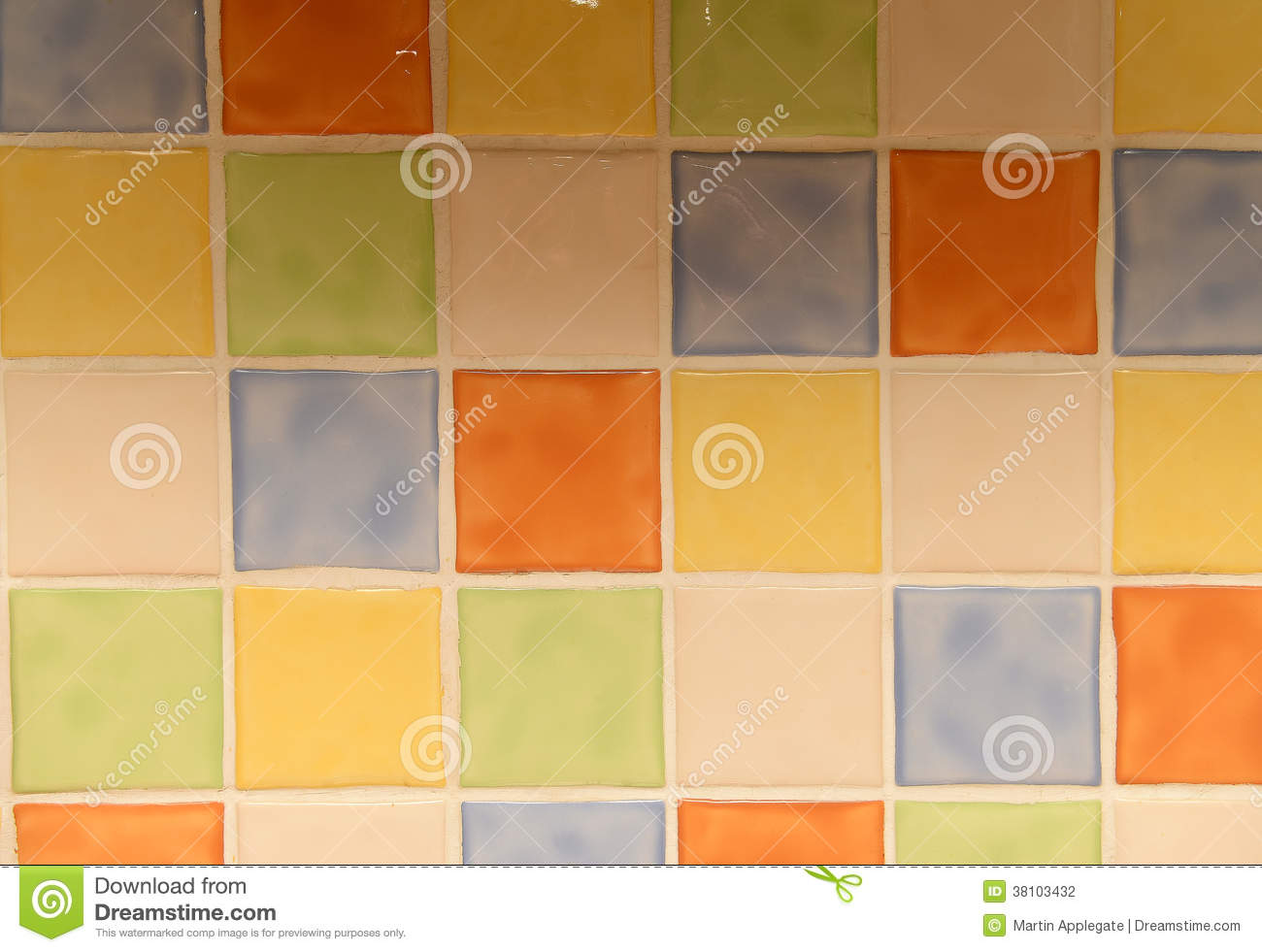 Colorful Kitchen Tiles Stock Photography Image 38103432