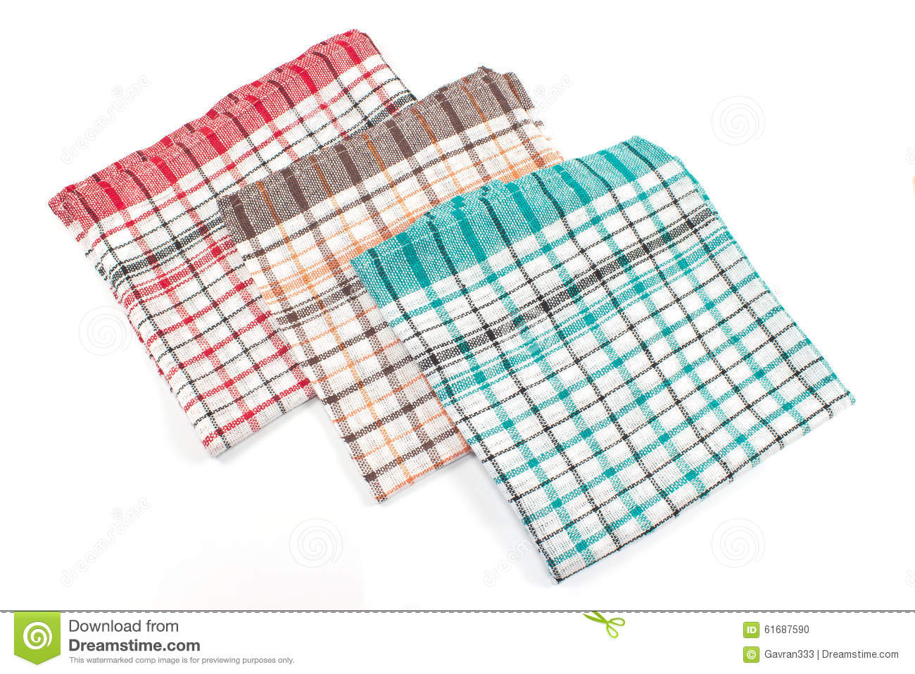 Colorful kitchen towels stock photo. Image of organic - 61687590