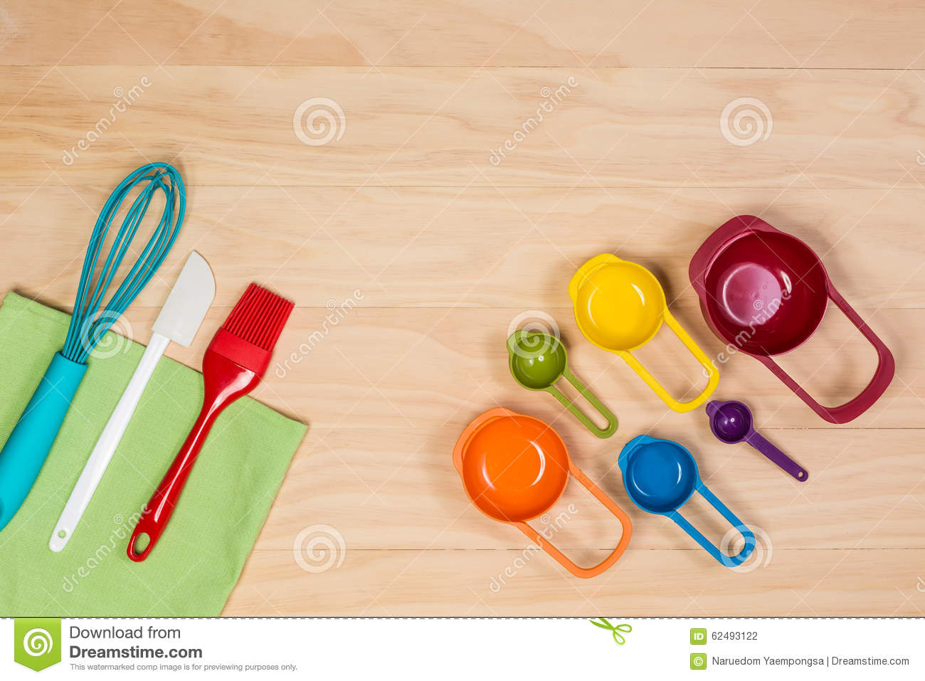 Colorful kitchen utensils stock photo. Image of bakery ...