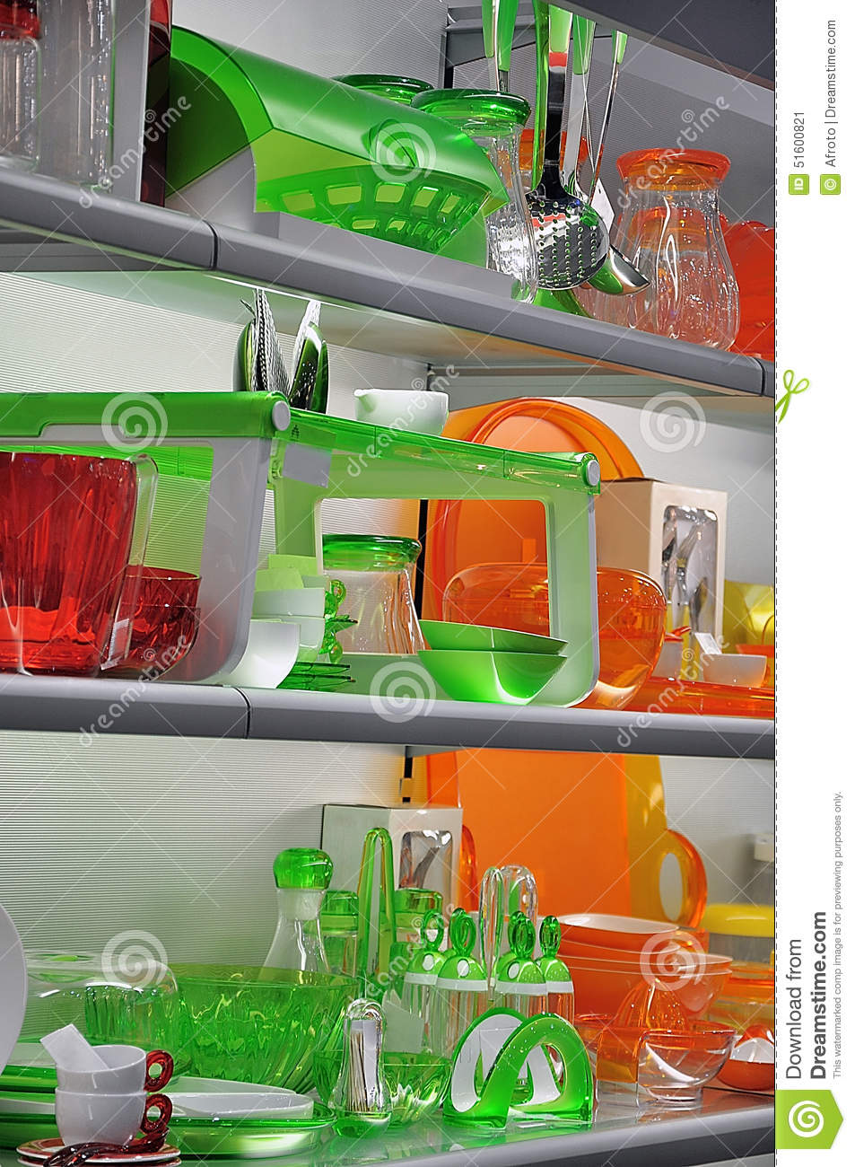 Colorful kitchenware stock image. Image of kitchen, glasses ...