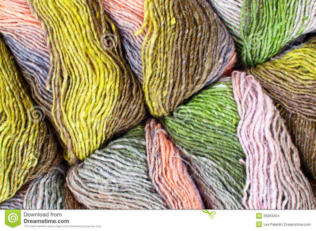 Colorful Knitting Yarn - Pattern/ Background Stock Images - Image: 26203204