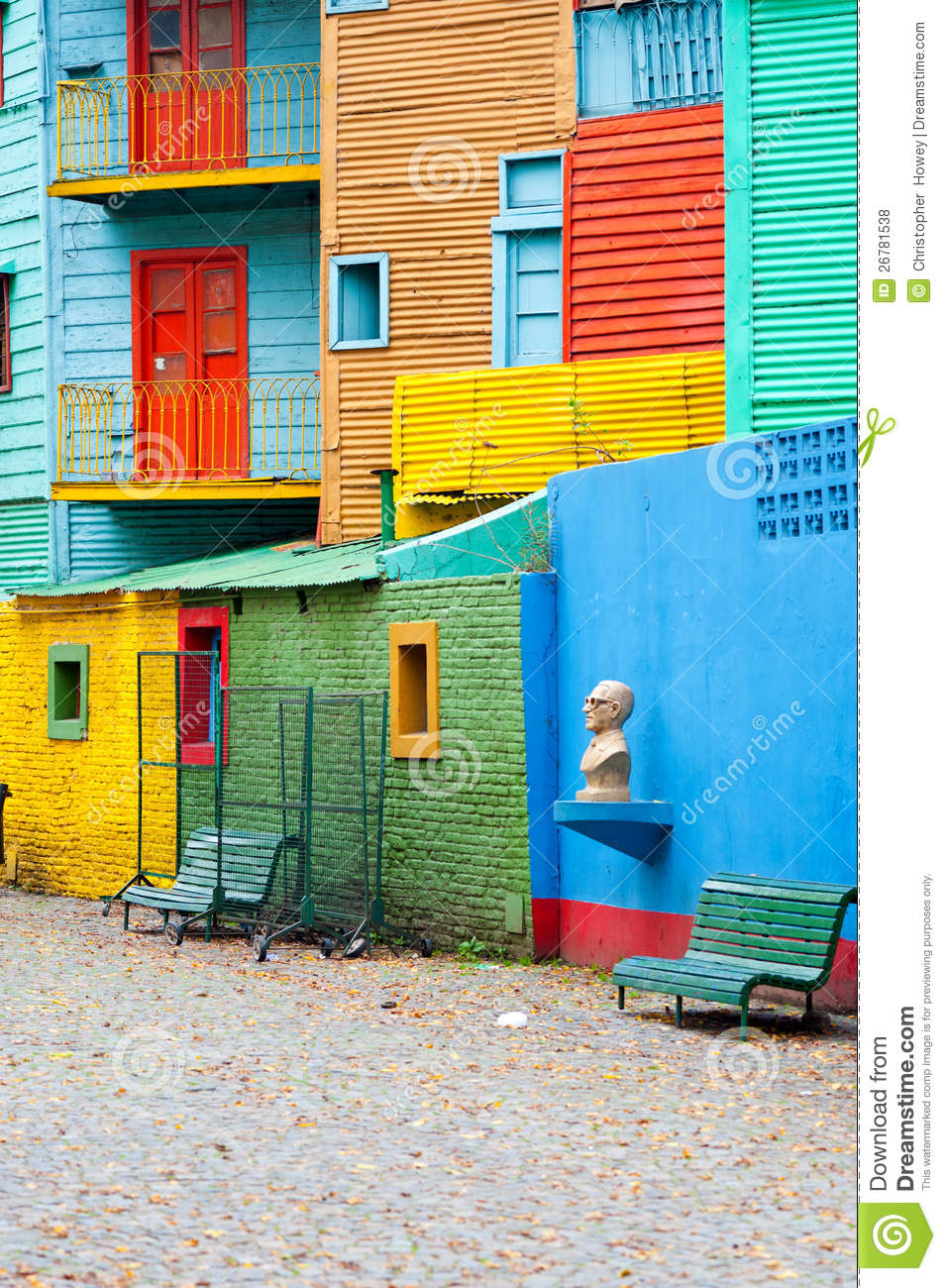 colorful la boca buenos aires royalty free stock photos. Black Bedroom Furniture Sets. Home Design Ideas