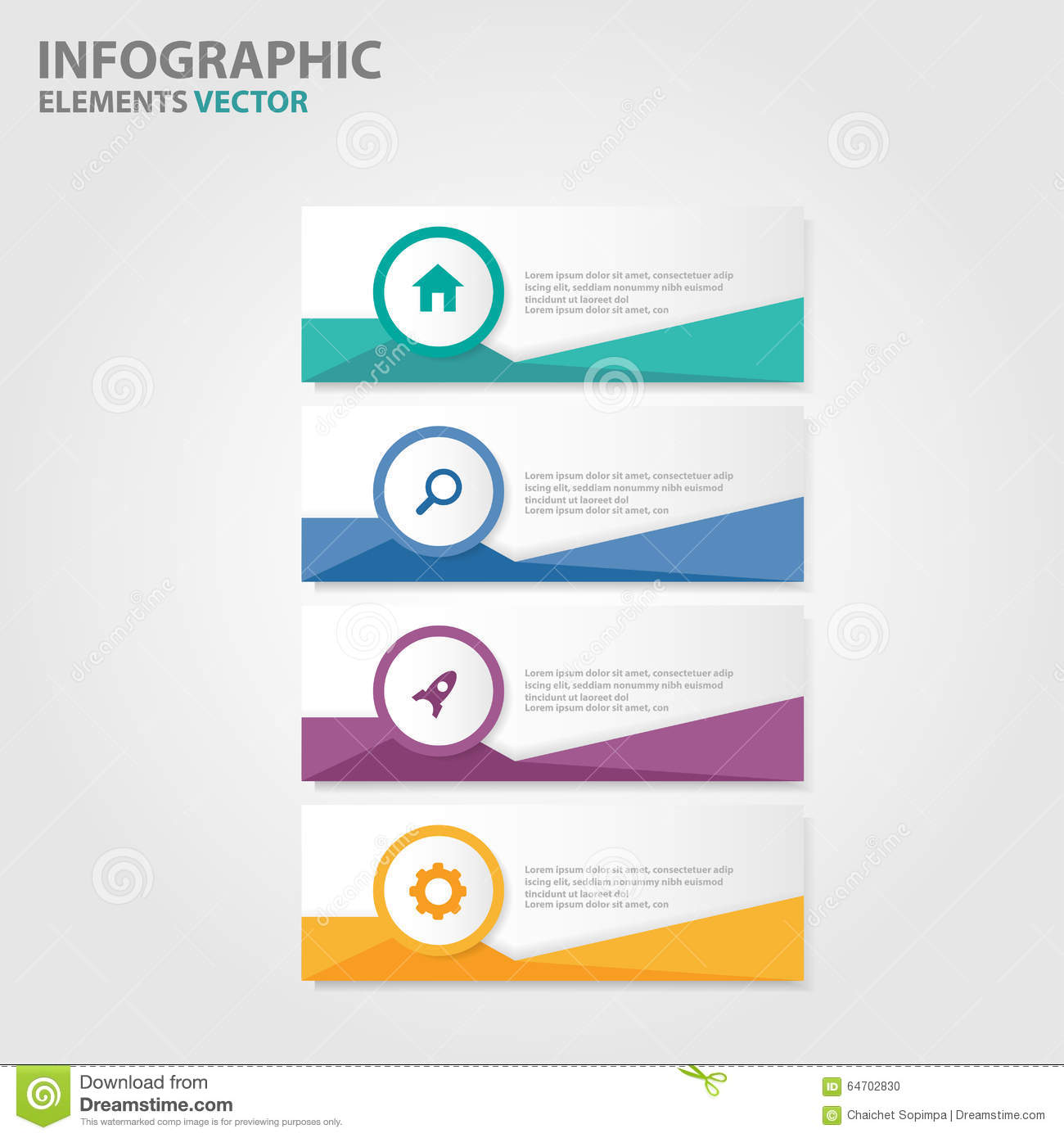 infographic brochure template - colorful label infographic presentation templates flat