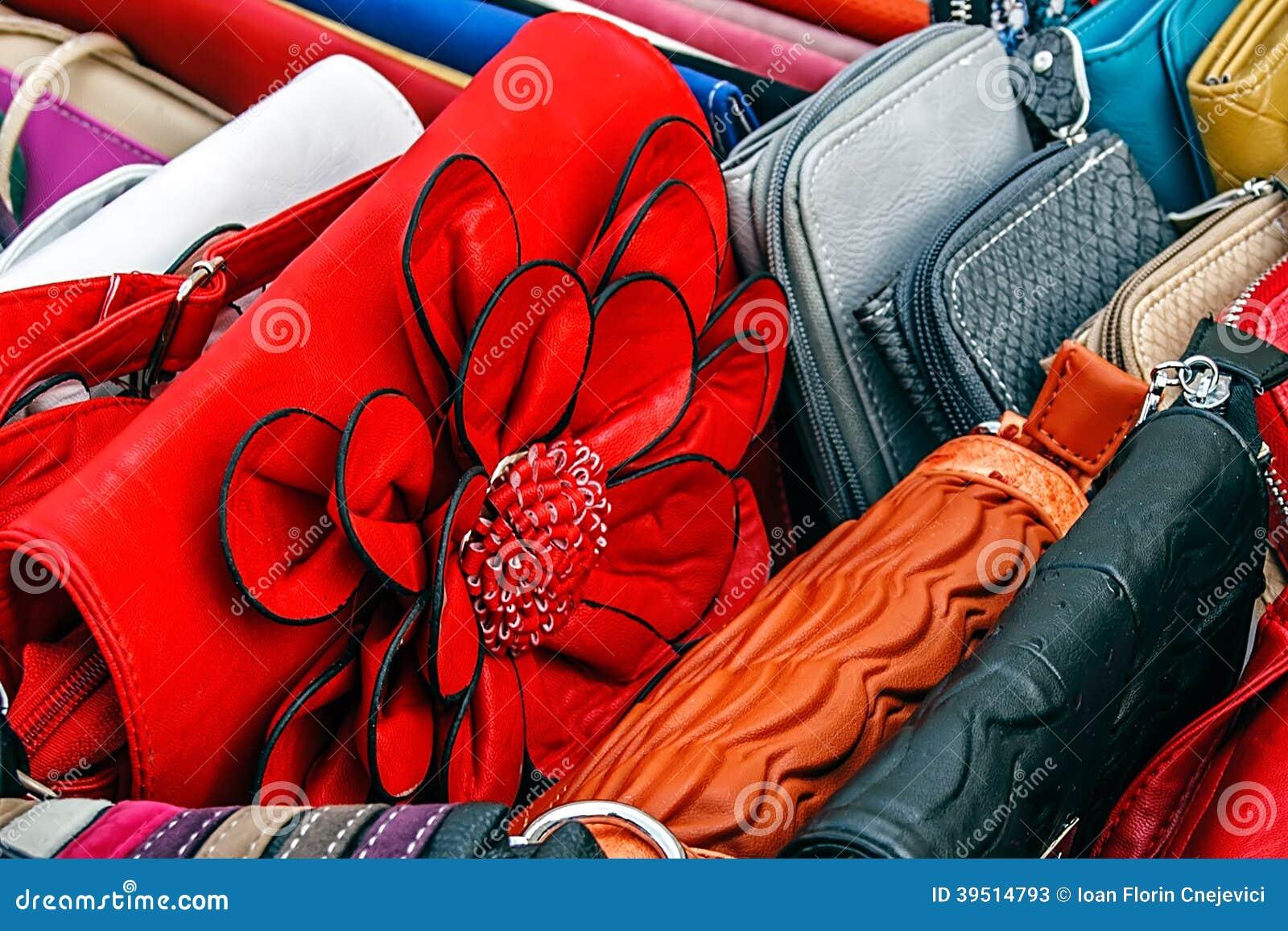 Colorful ladies purses
