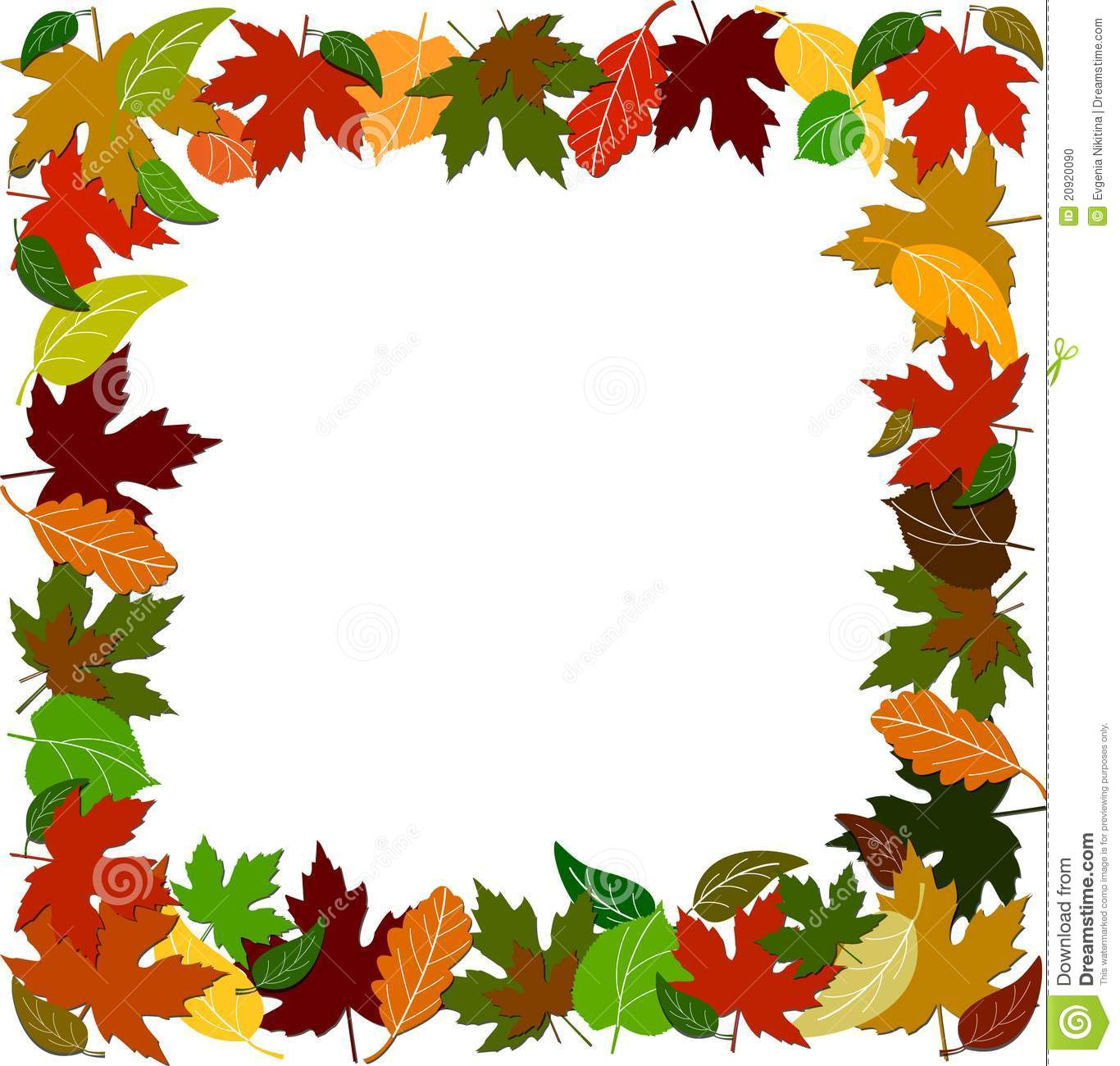 Colorful Leaf Border Stock Vector Illustration Of Leafy