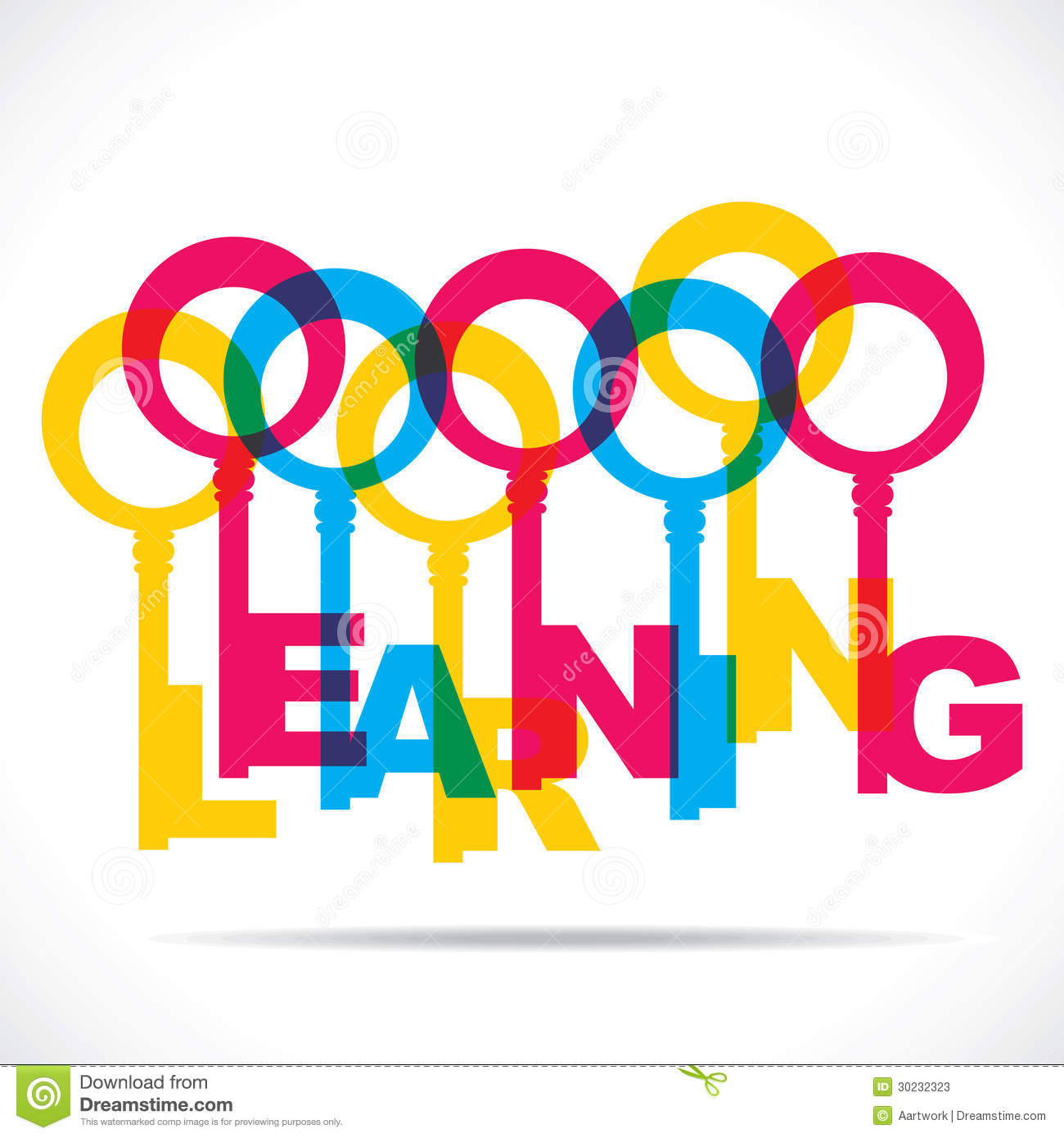 Colorful Learning Word Key Stock Photos - Image: 30232323