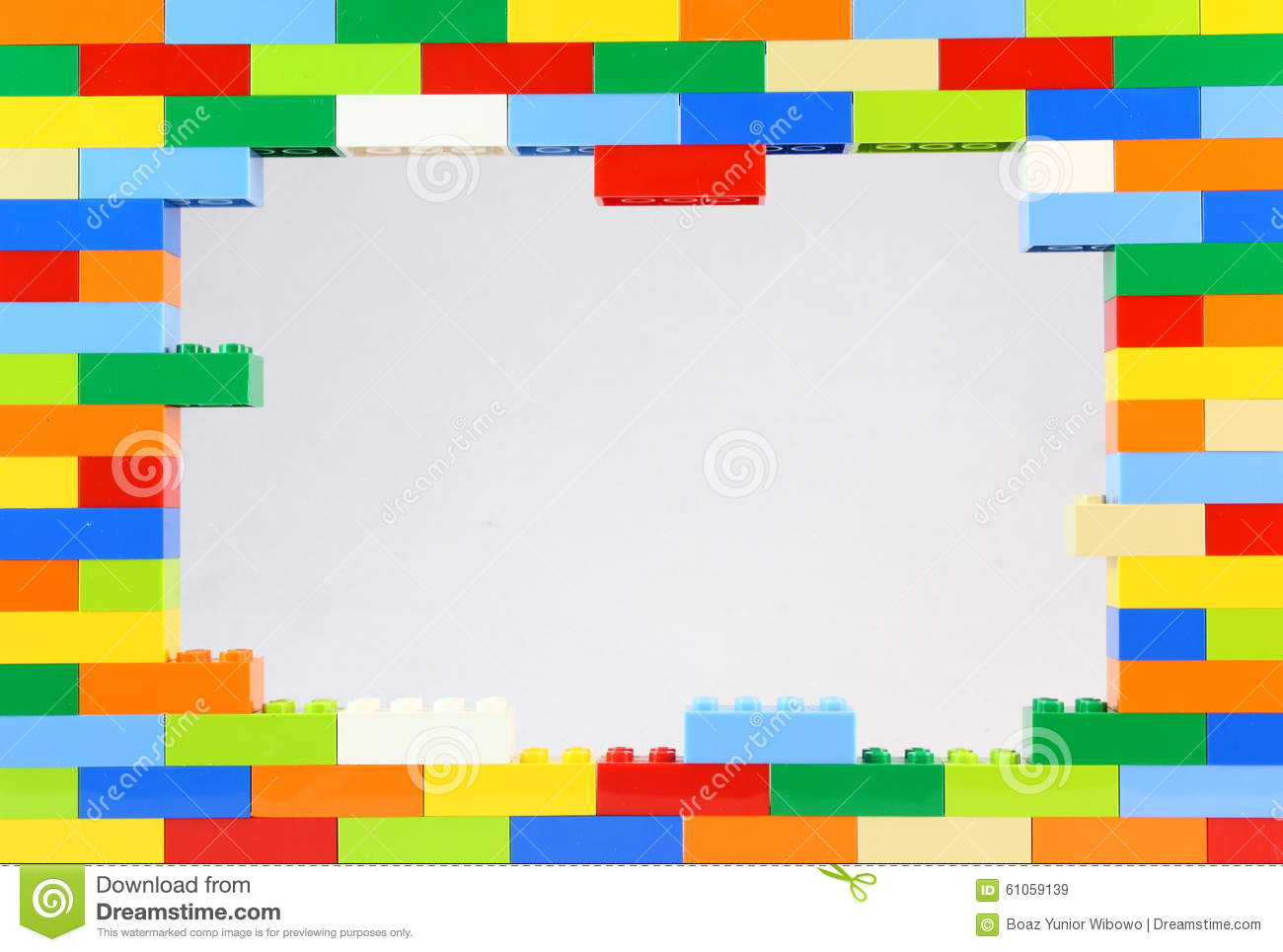 Colorful Lego Frame stock image. Image of activity, name ...