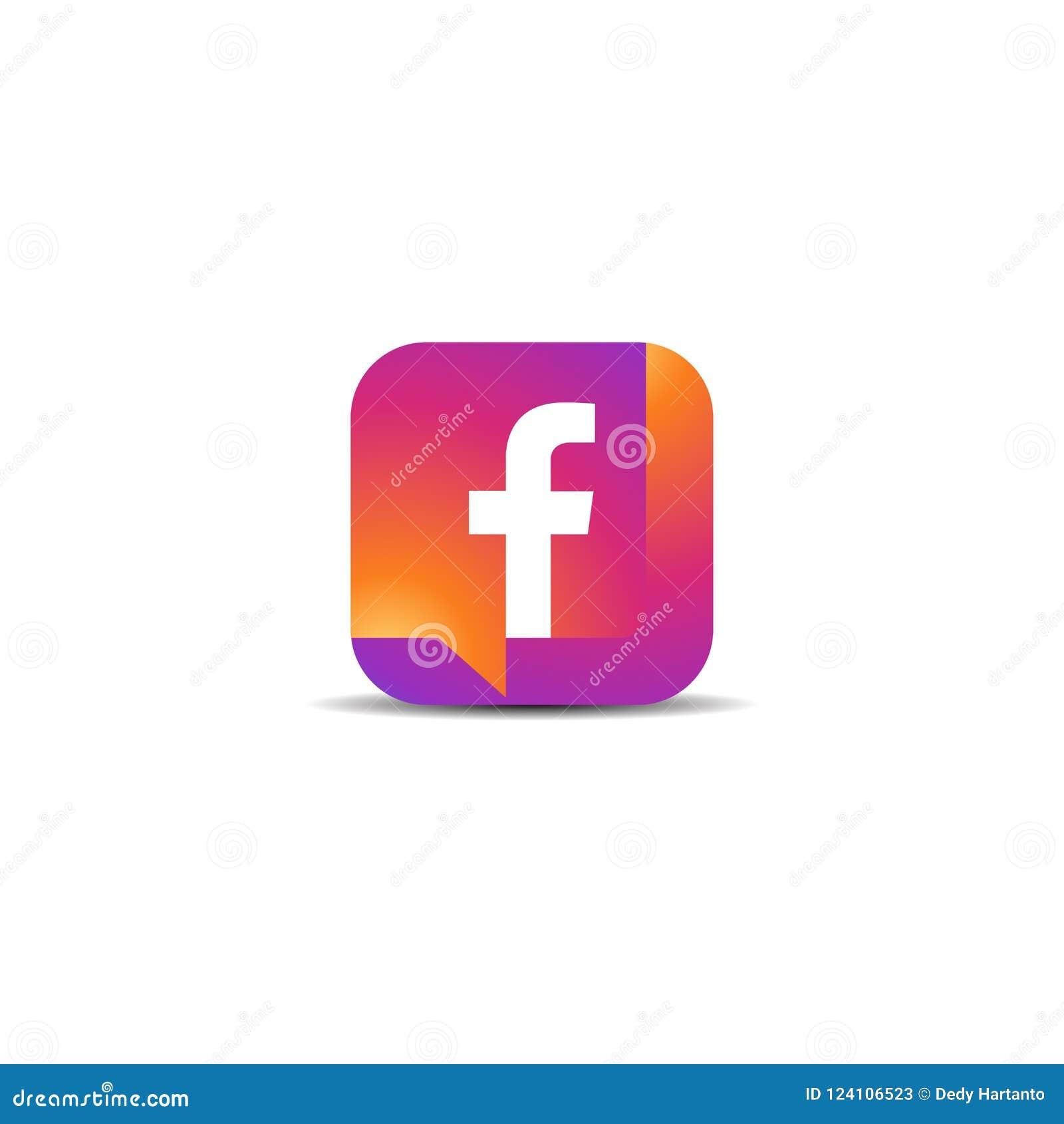 Colorful facebook icon vector logo stock vector illustration of download colorful facebook icon vector logo stock vector illustration of font creative 124106523 maxwellsz