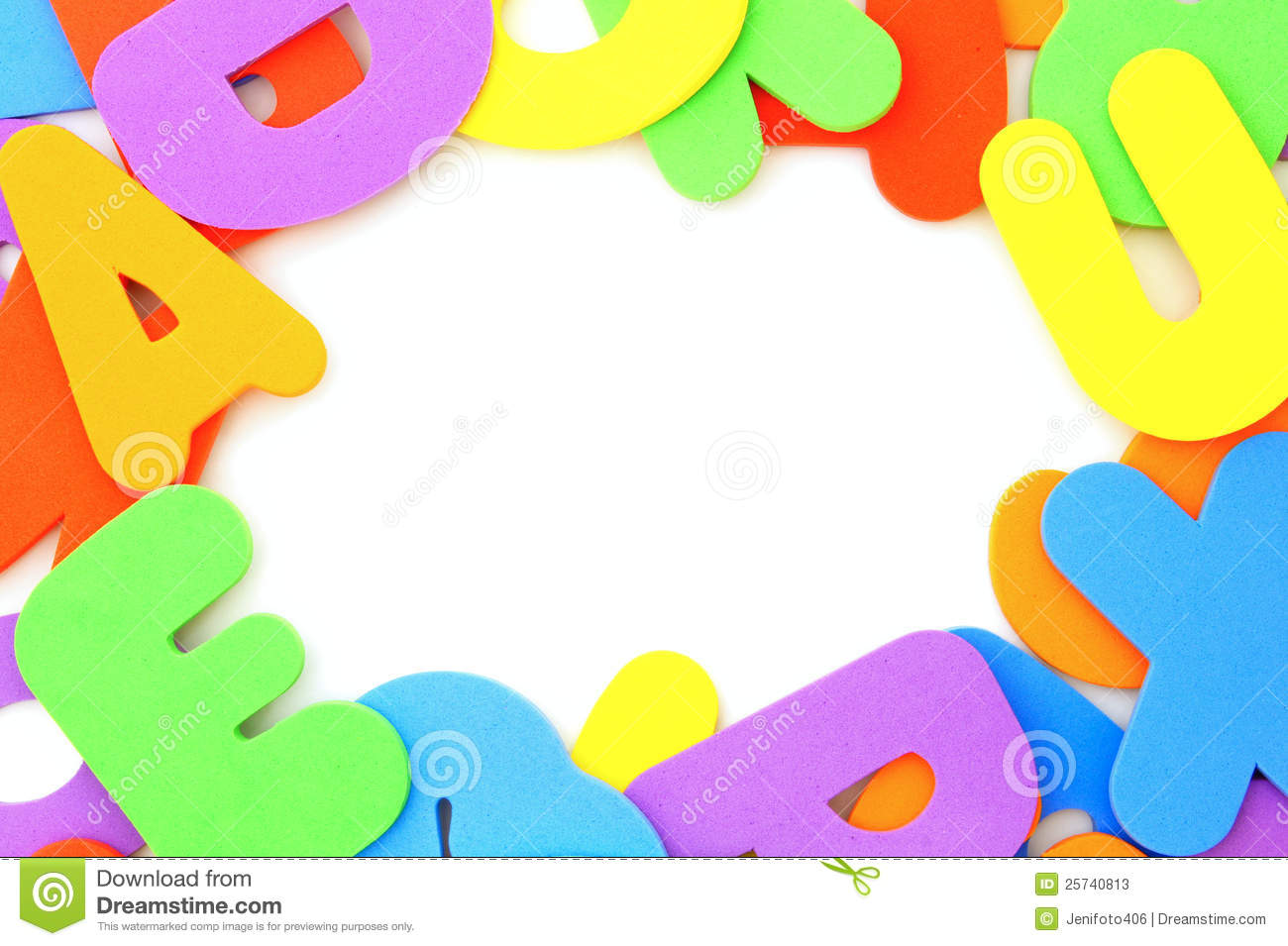 Colorful letter frame stock image. Image of childhood - 25740813