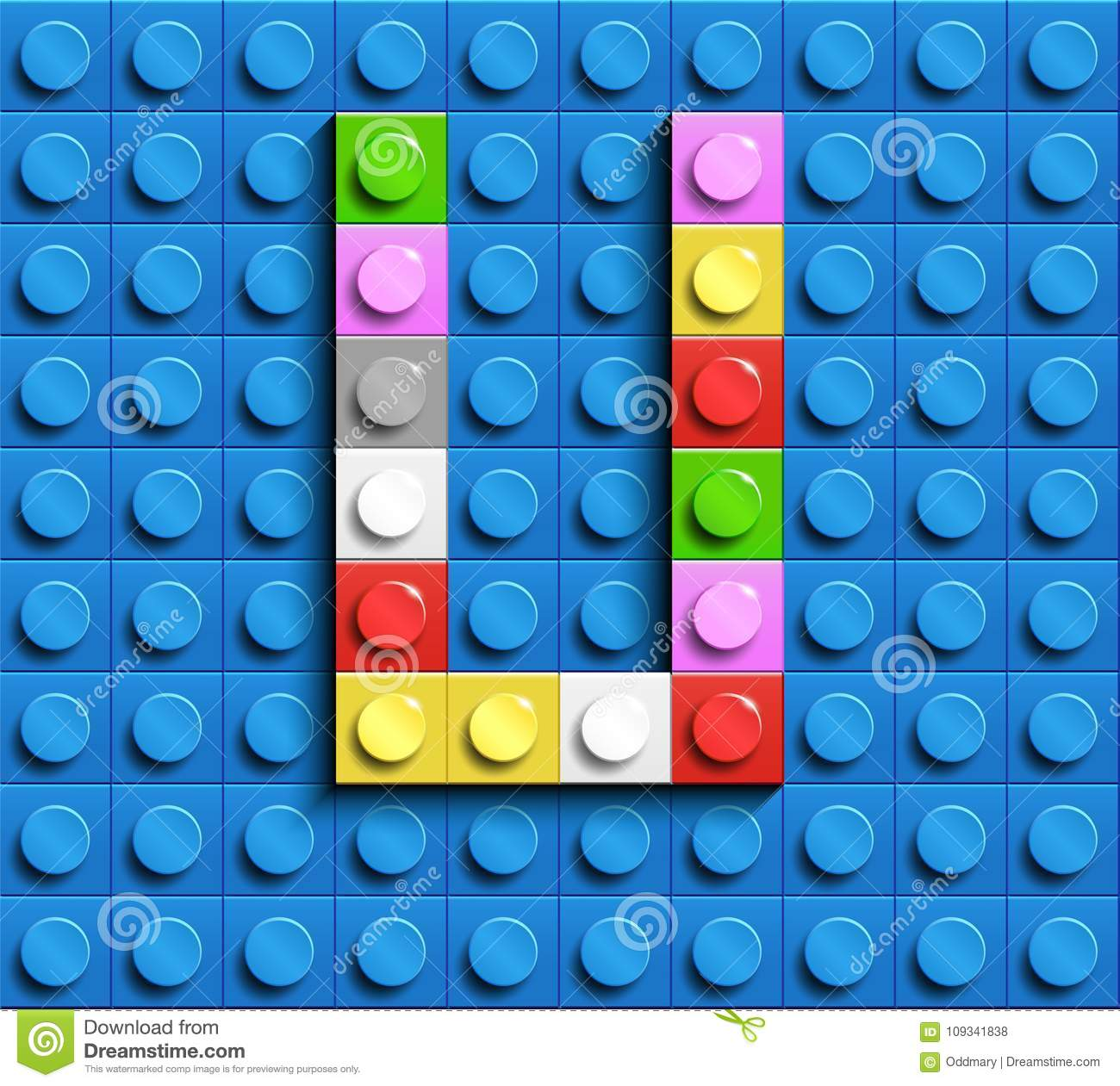 Cover Letter For Lego: Colorful Letter U From Building Lego Bricks On Blue Lego