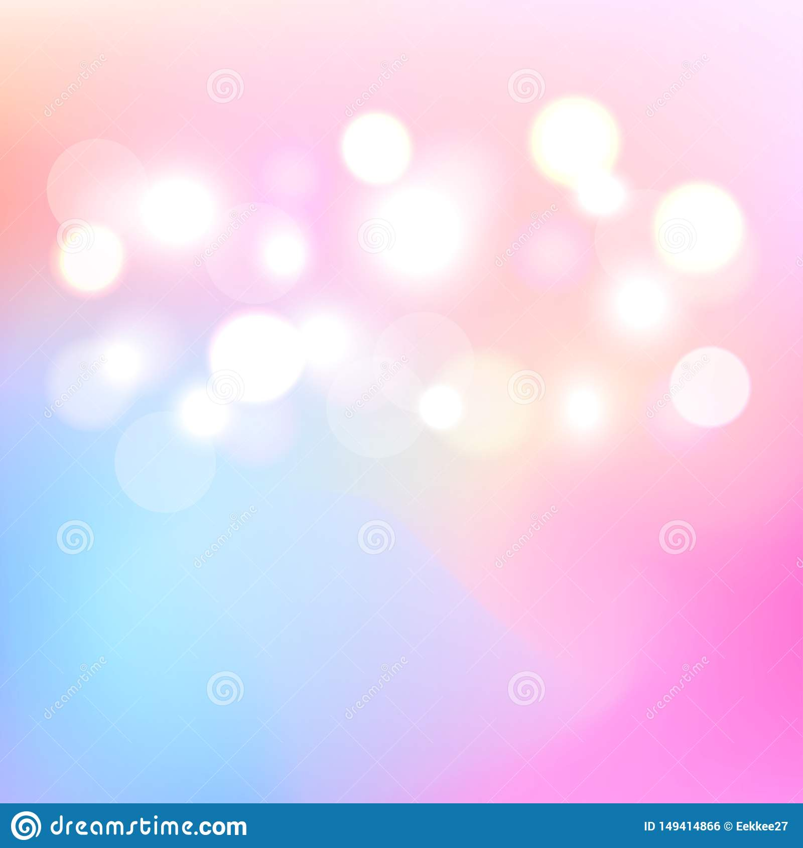 Bokeh colorful light abstract background. Blurry light a backdrop.Vector. Illustration.