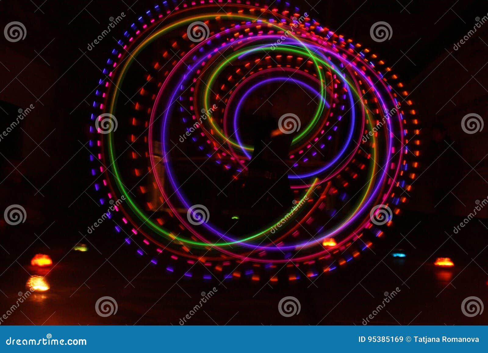 Colorful light luminous texture on black