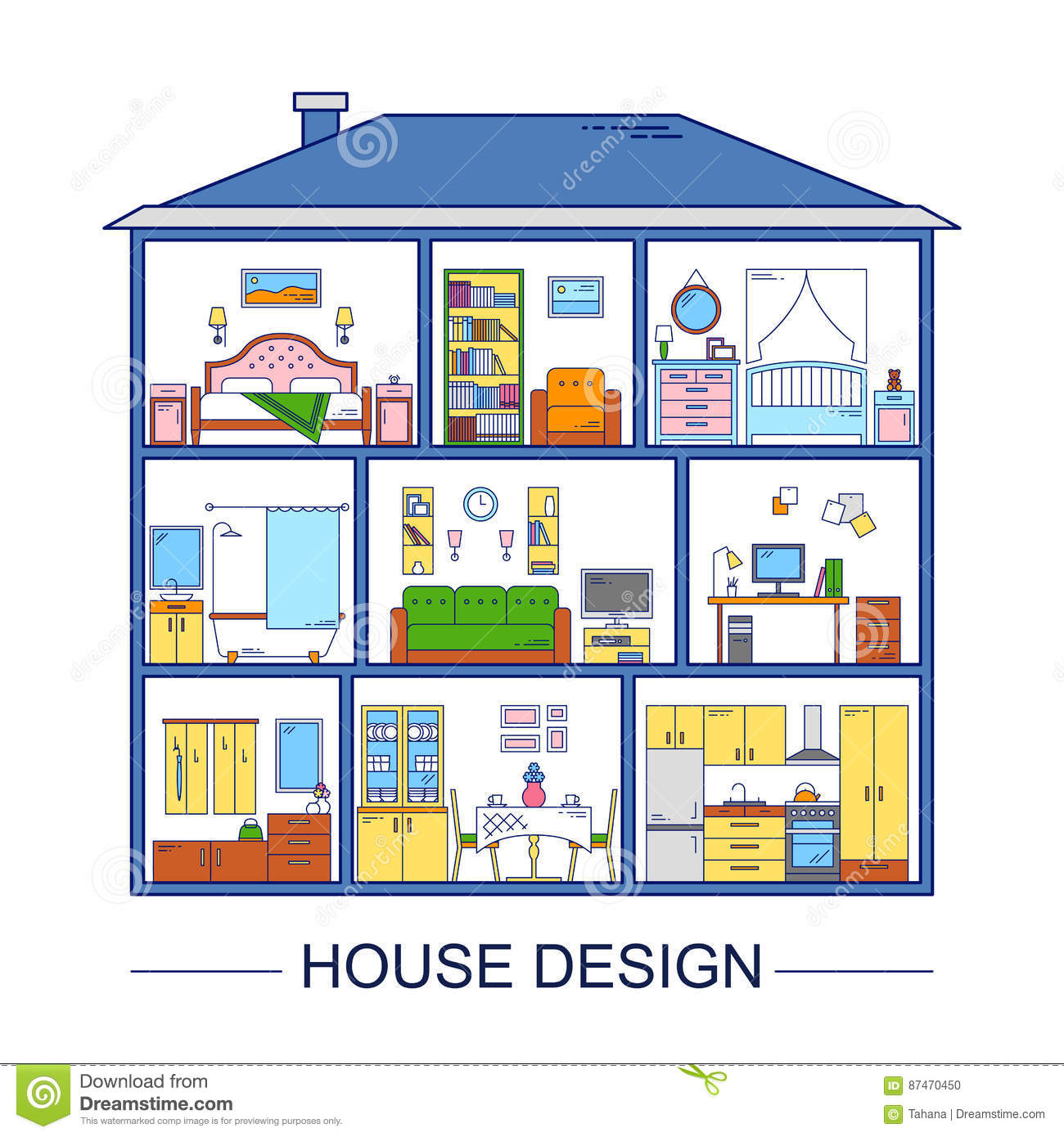 Bathroon cartoons illustrations vector stock images 7 pictures to download from - Home design elements ...