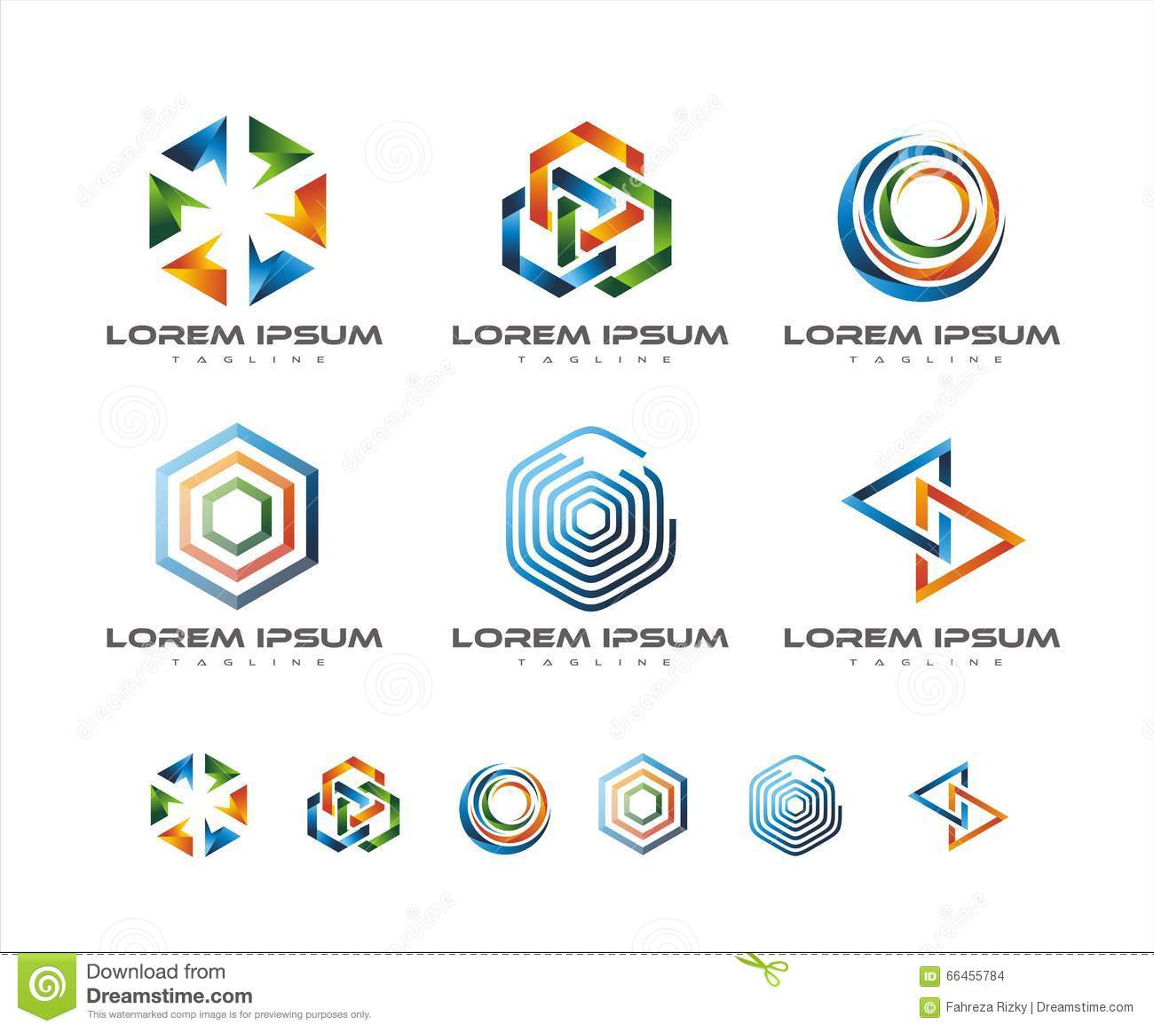 COLORFUL LINK LOGO DESIGN Stock Illustration - Image: 66455784