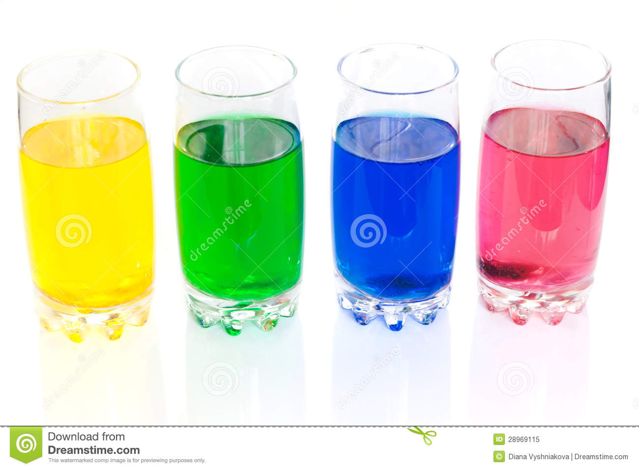 Colorful Liquids Royalty Free Stock Photo