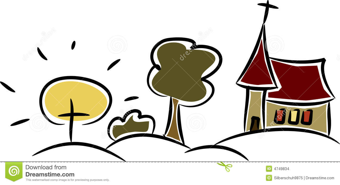Colorful Little Country Church (II) Stock Vector - Image ...