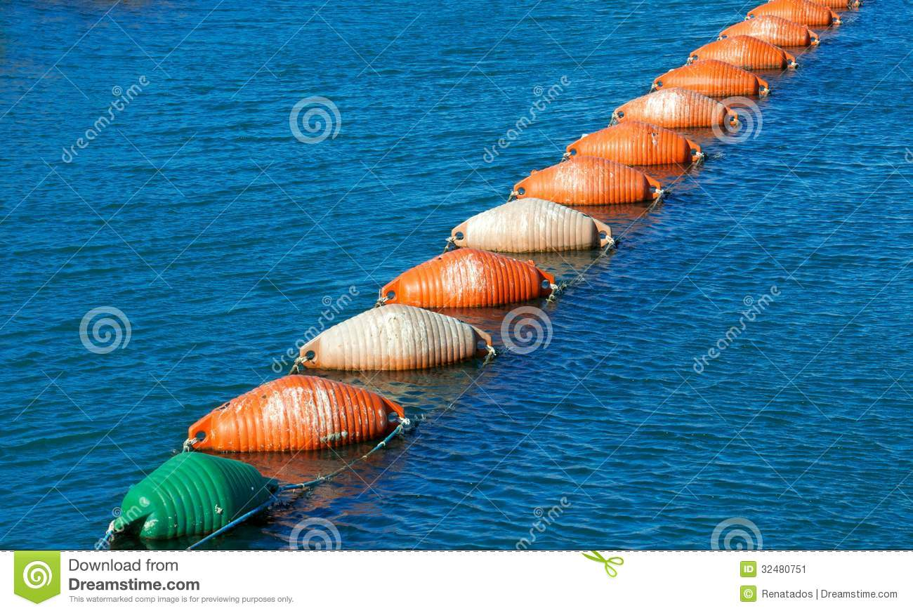 Colorful Lobster Buoys, Fishing Tool Stock Image - Image ...