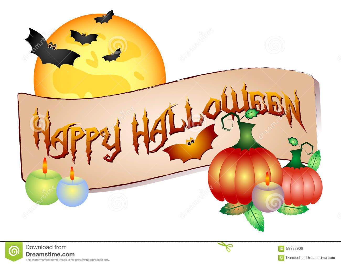 Colorful logo for cards and greetings on theme of halloween stock colorful logo for cards and greetings on theme of halloween kristyandbryce Images