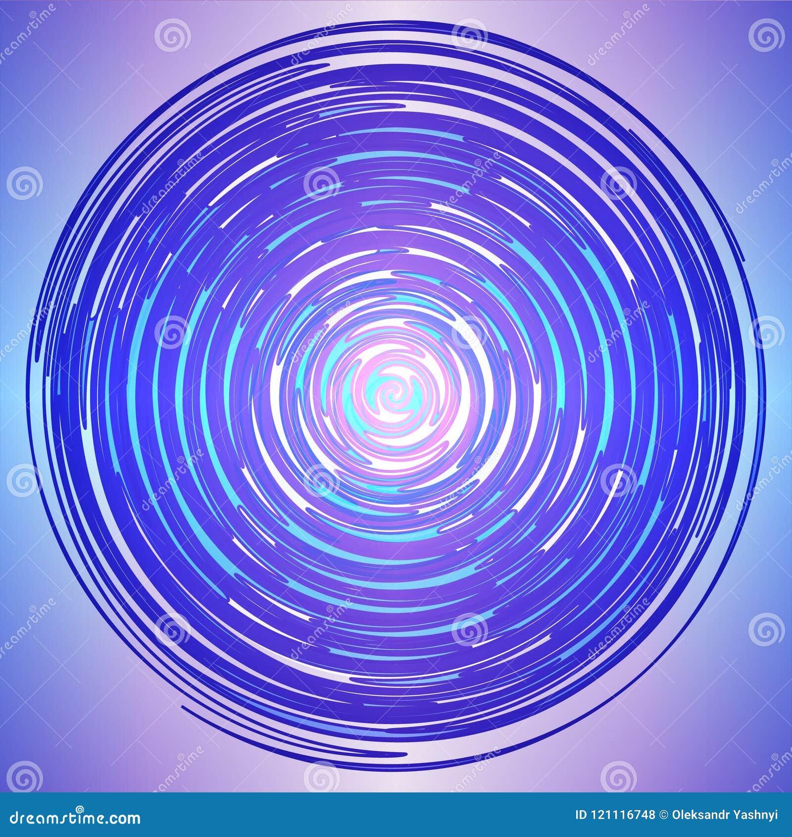 Colorful Logo made of Colored Circle Lines.Magic circle. Logo design.Circles of lines. Vector illustration.