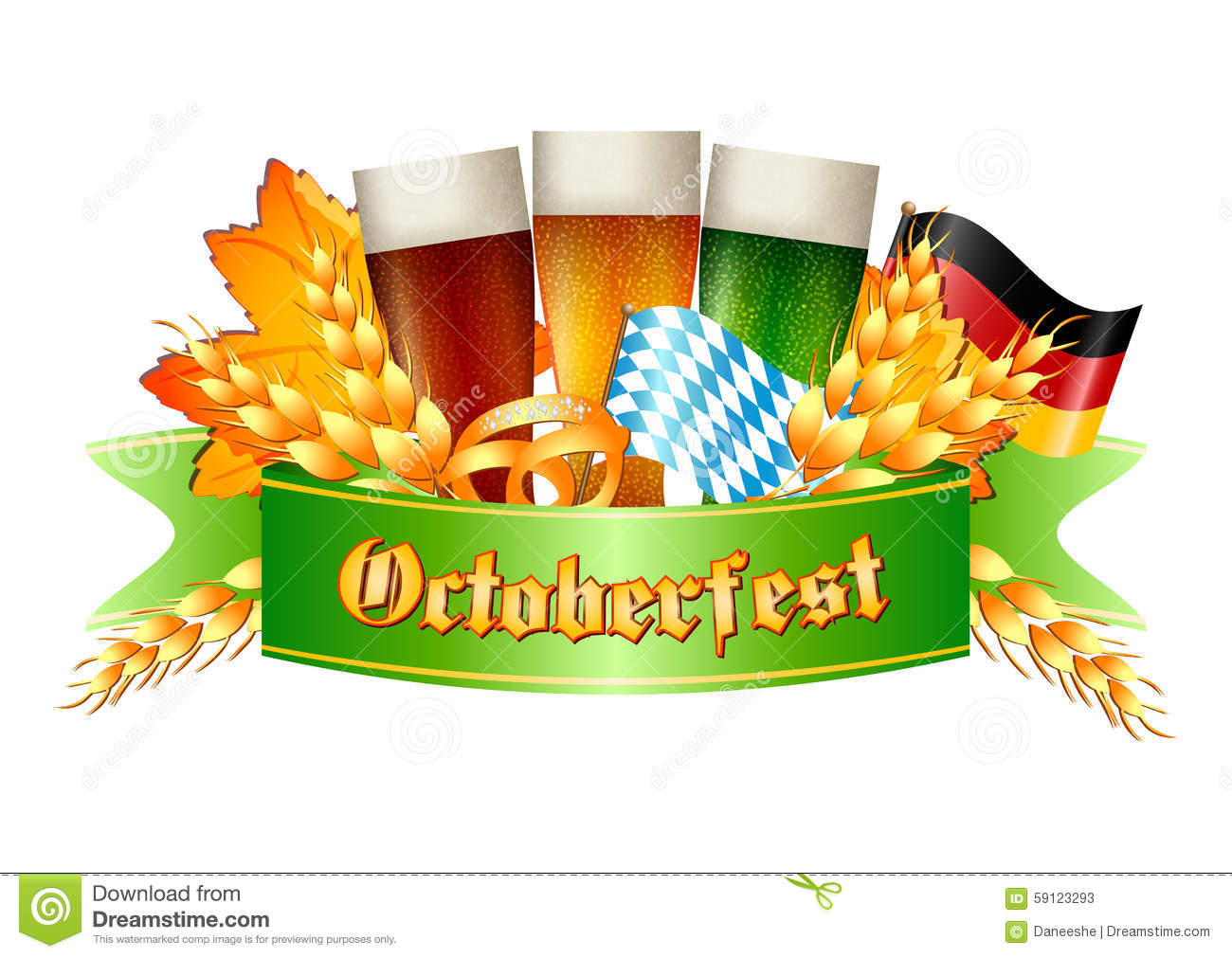 Colorful Logo For Postcards And Greetings With Oktoberfest Editorial