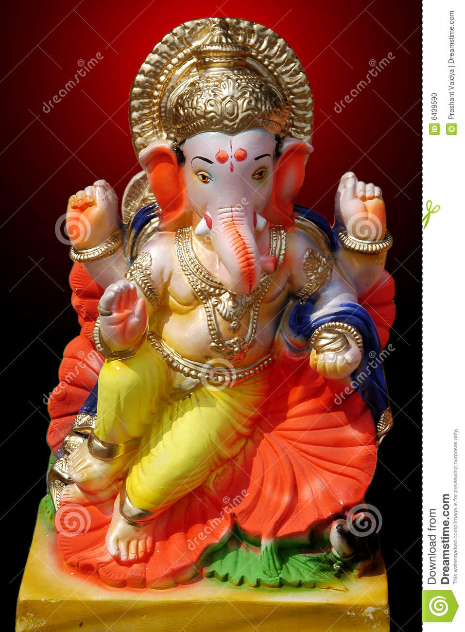 Colorful Lord Ganesha Model Stock Photo Image Of Deva Honorable