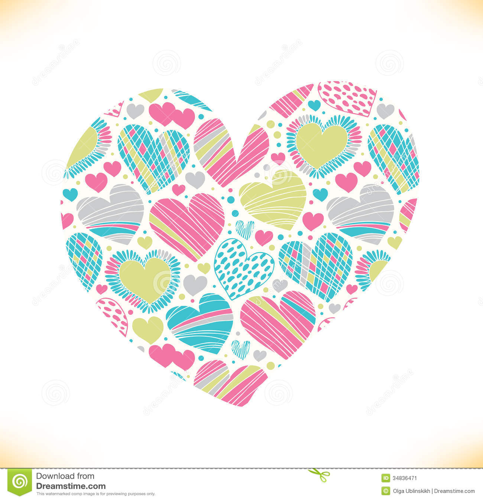 Colorful love ornamental pattern on heart beautiful love symbol colorful love ornamental pattern on heart beautiful love symbol buycottarizona Gallery