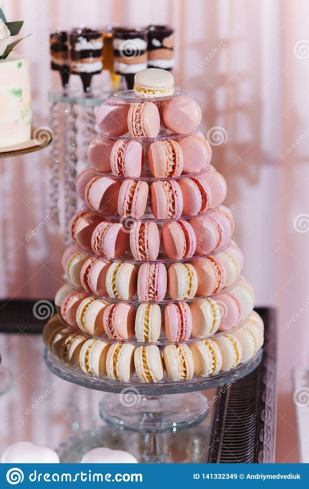 Excellent Colorful Macarons Stand In Round Transparent Weight As Part Complete Home Design Collection Epsylindsey Bellcom