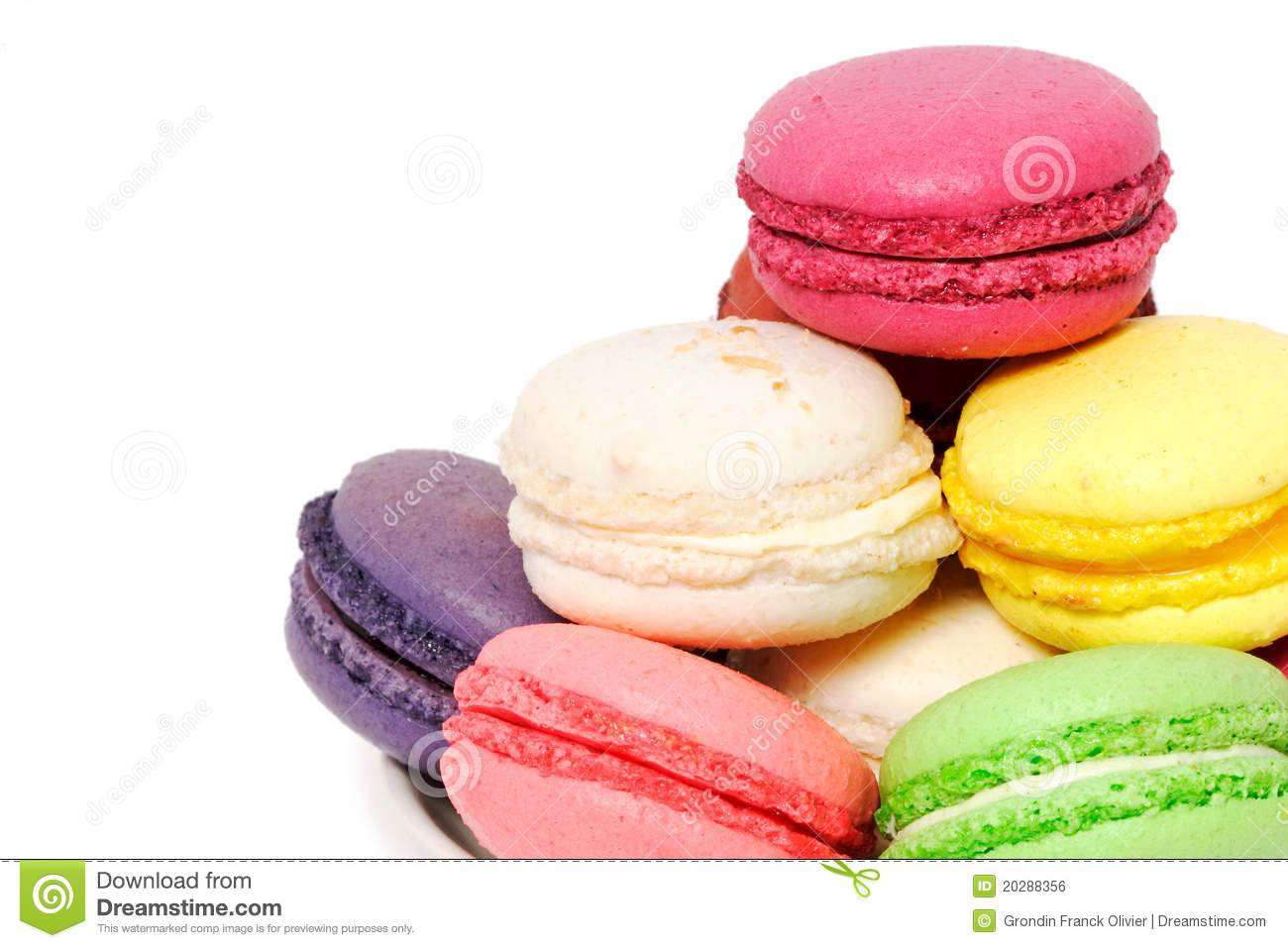 Colorful Macaroon Cookies Royalty Free Stock Image Image 20288356