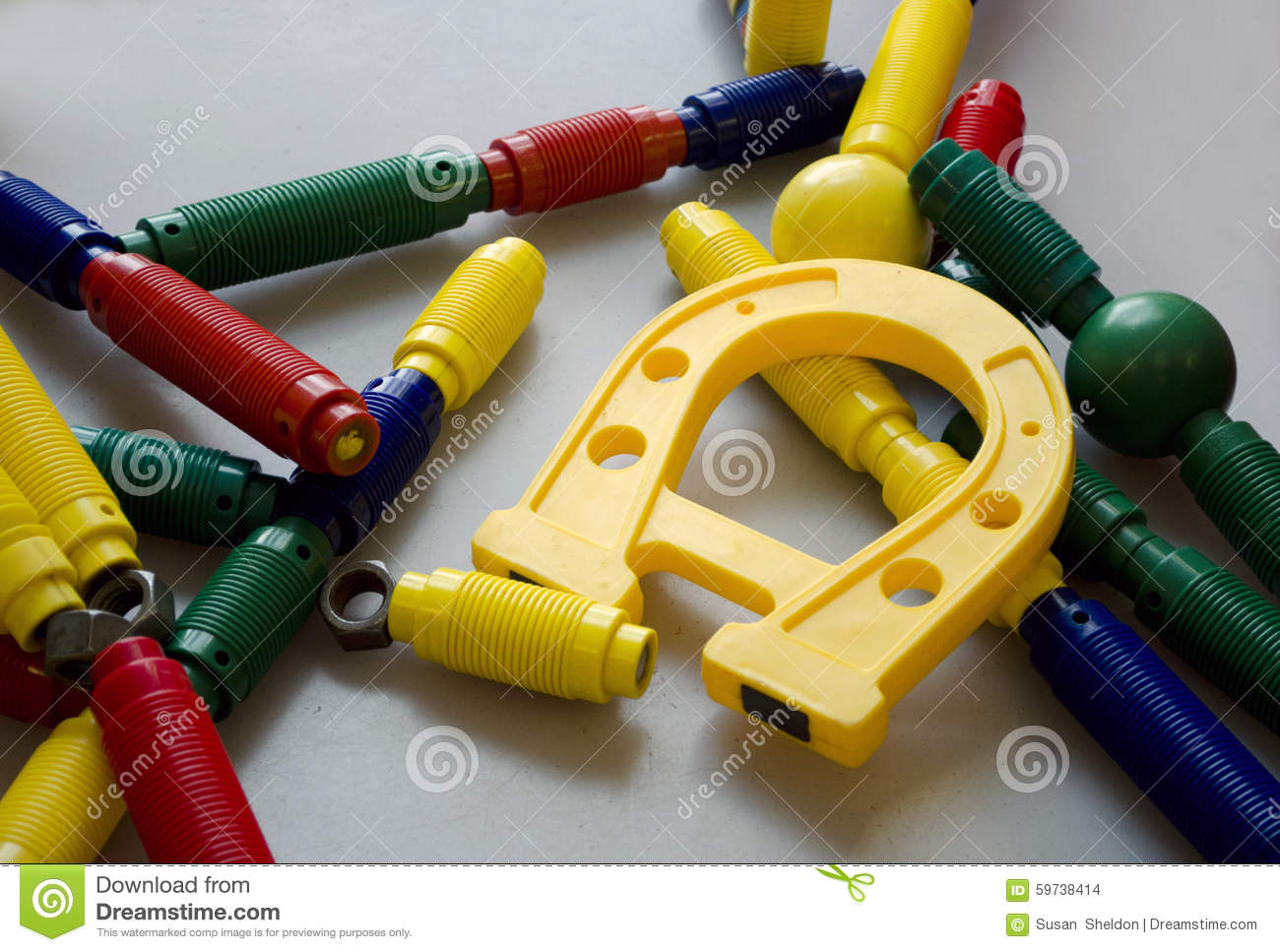 Colorful Magnetic Toys Stock Photo