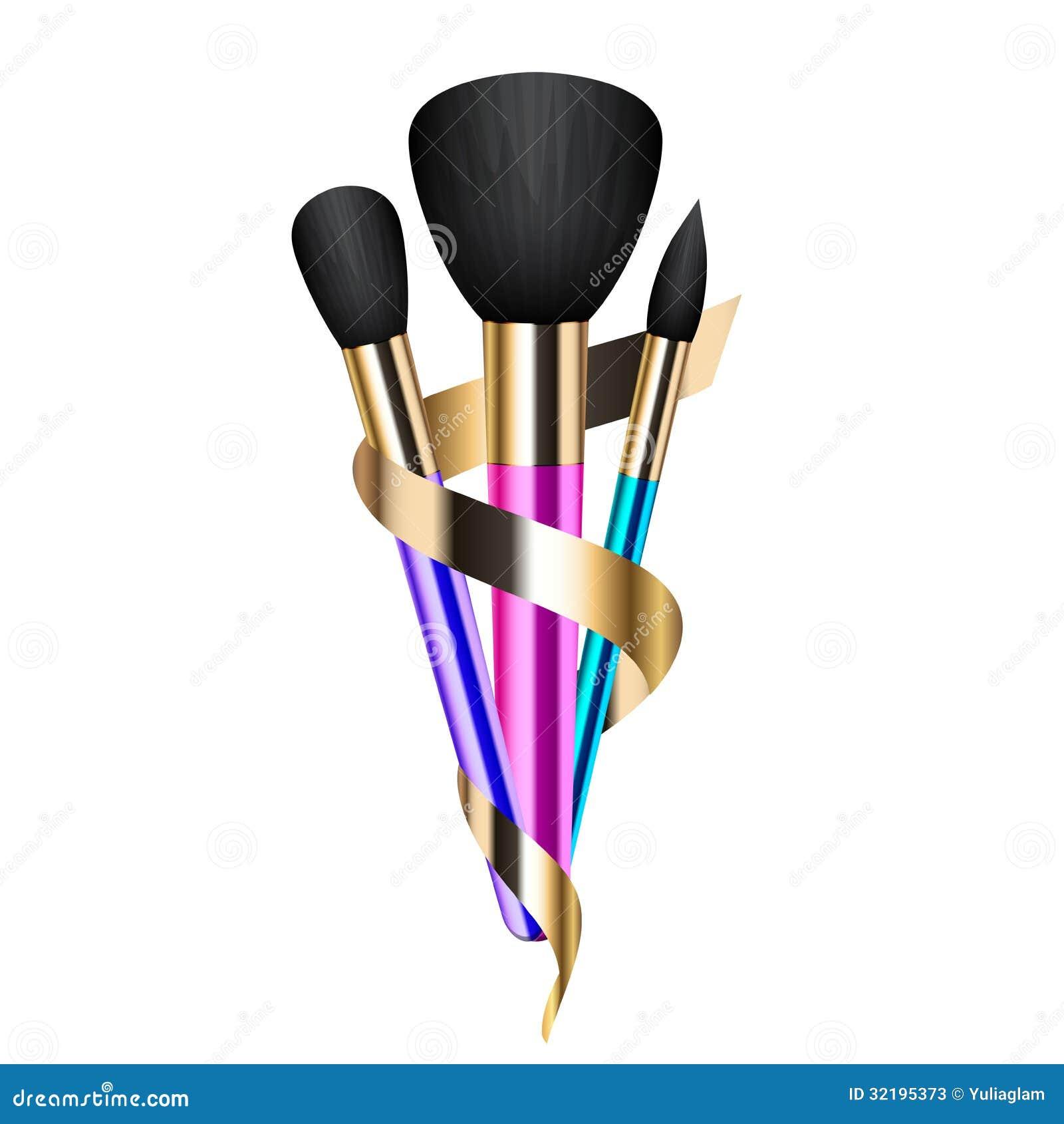 Colorful Make Up Brushes Stock Photos Image 32195373