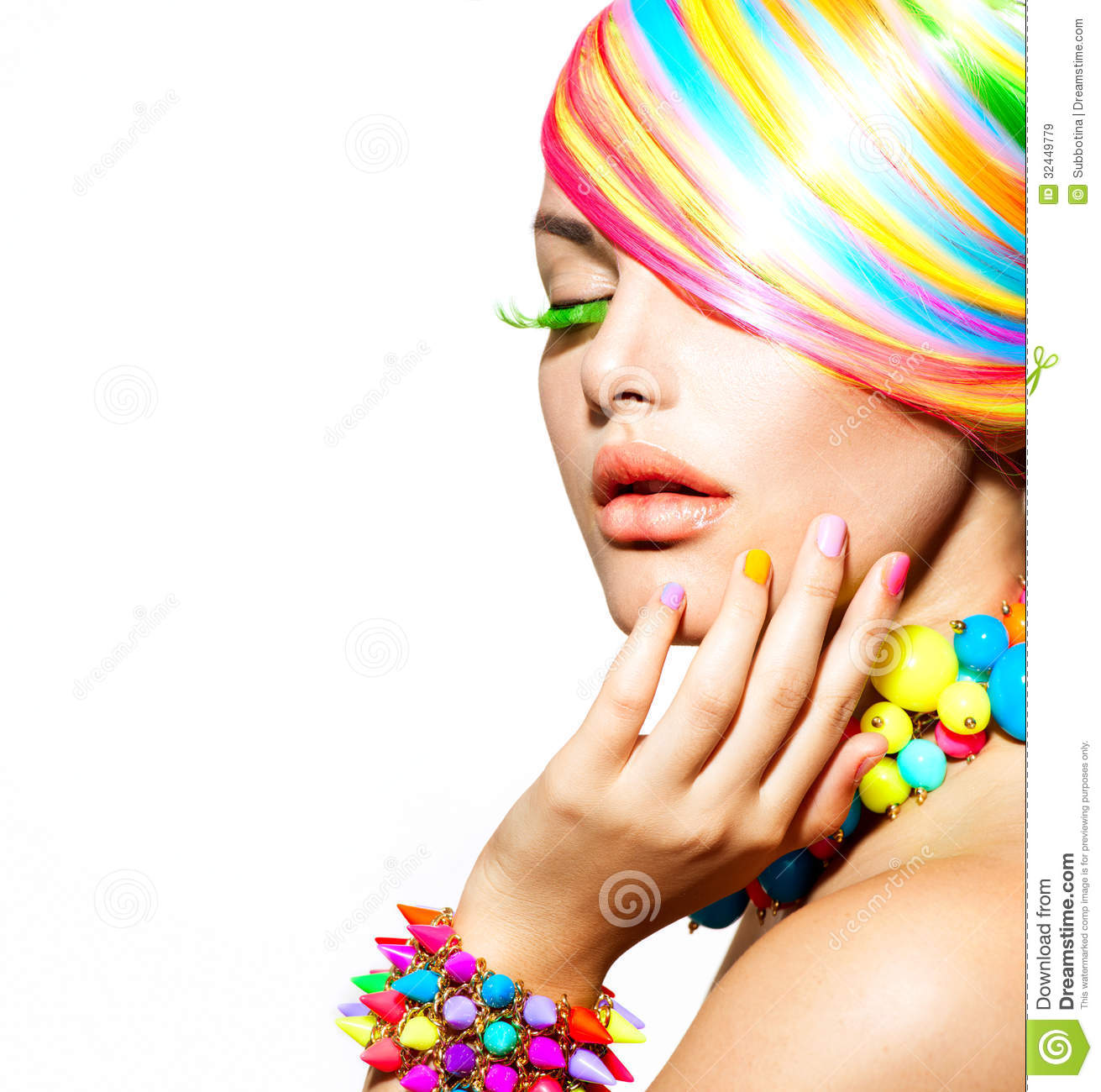 colorful makeup  hair and accessories royalty free stock Nose Vector Nose Vector