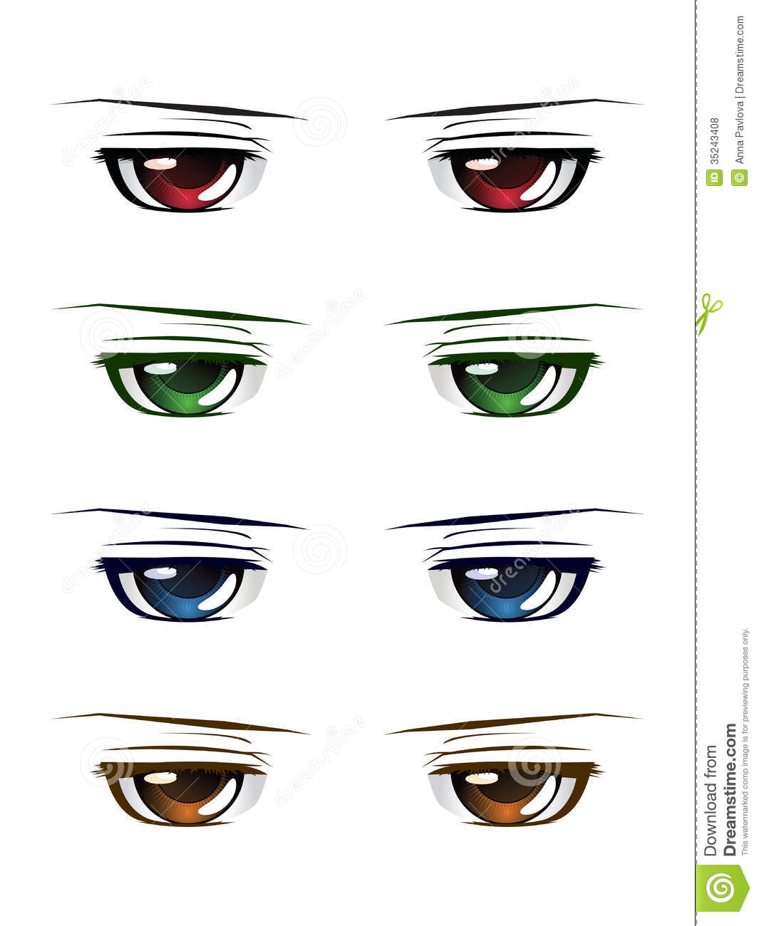 Colorful Male Eyes Royalty Free Stock Photos - Image: 35243408