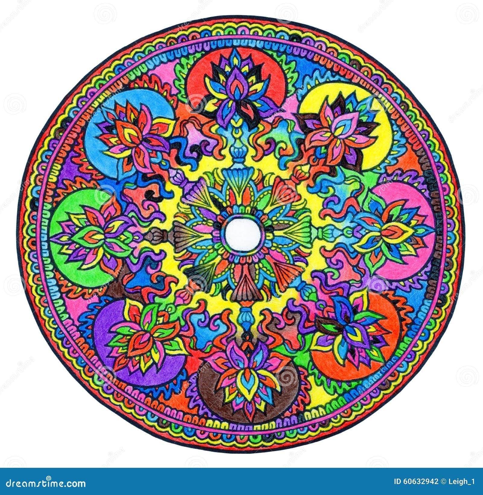 colorful mandala stock illustration image 60632942. Black Bedroom Furniture Sets. Home Design Ideas