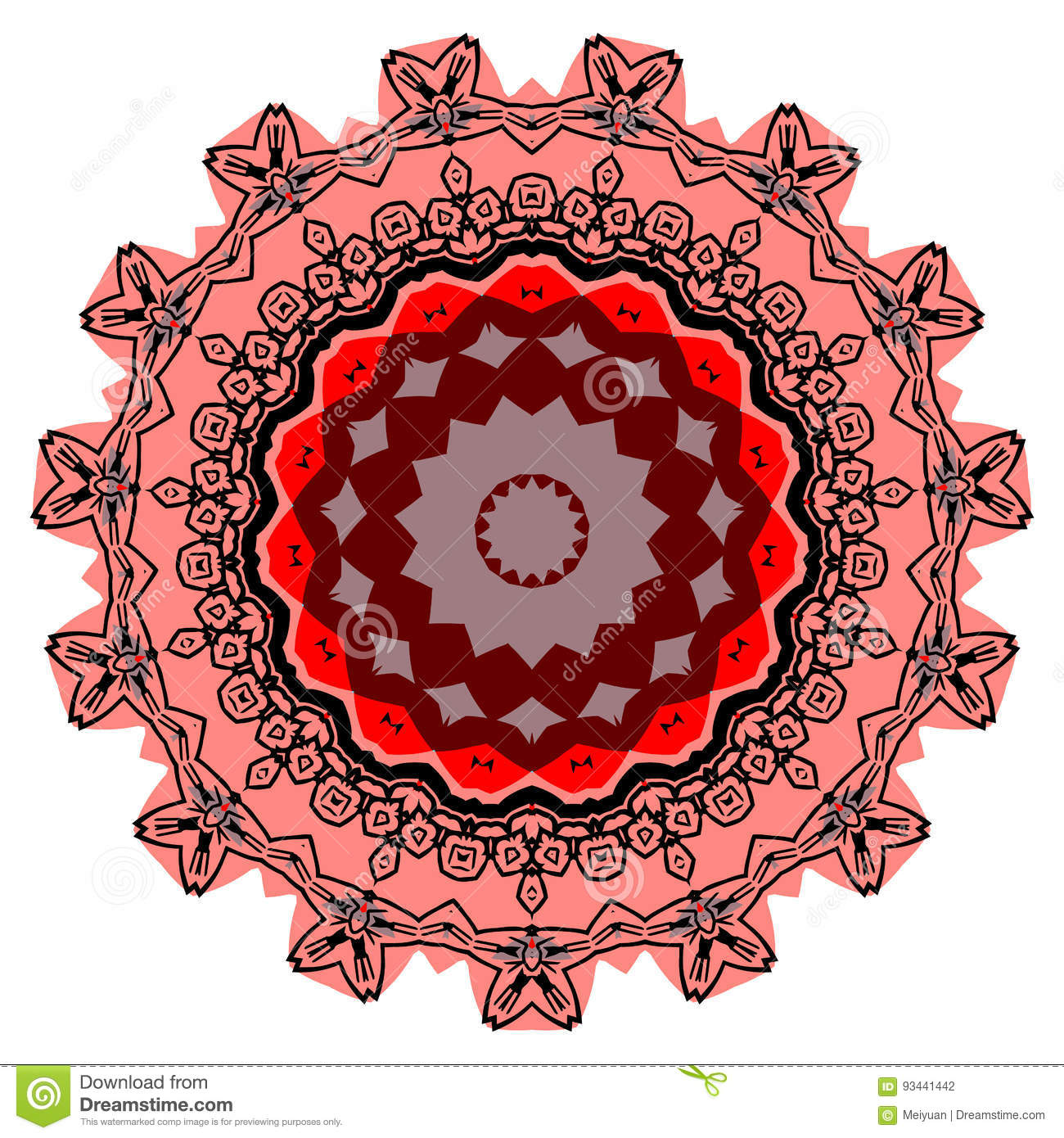 colorful mandala on the white background stock vector image