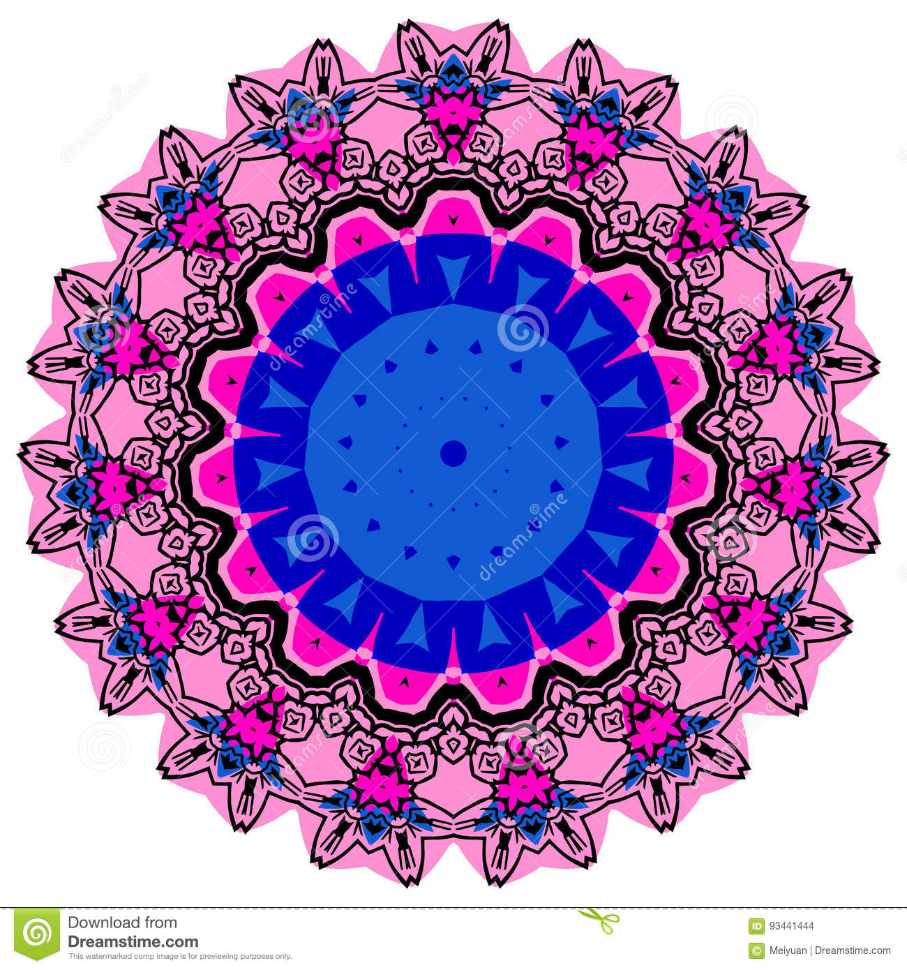 colorful mandala on the white background stock vector