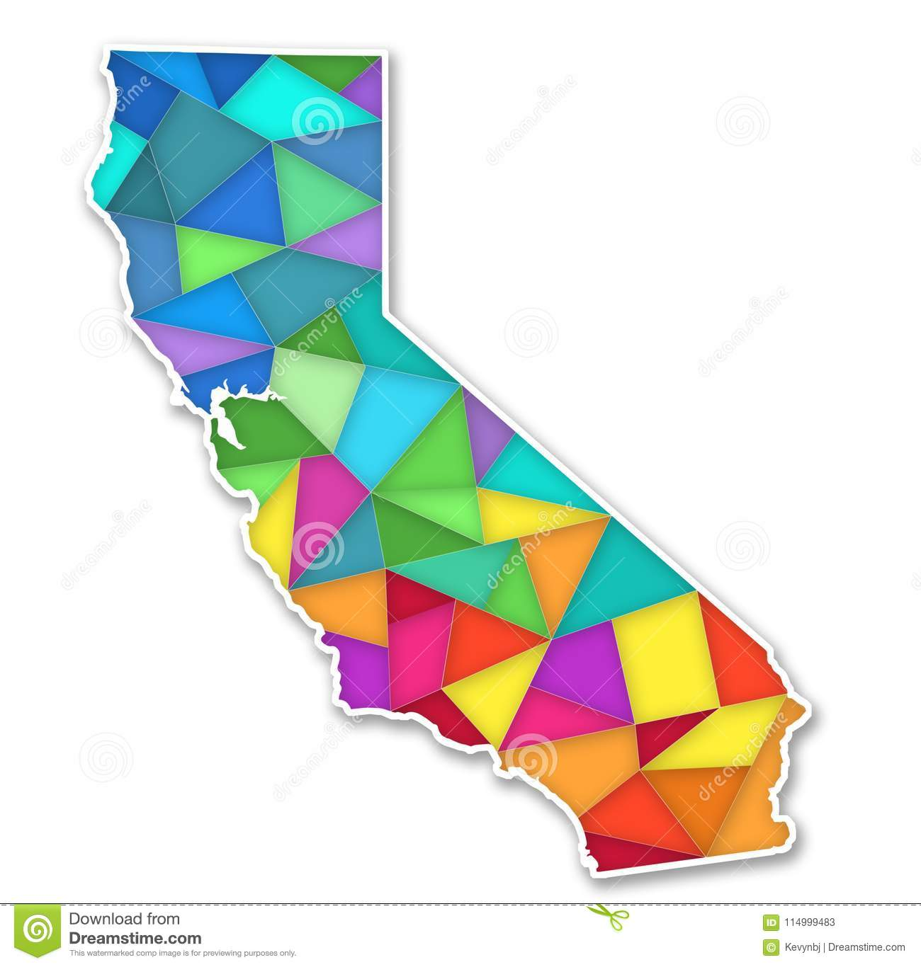 Colorful Map of California