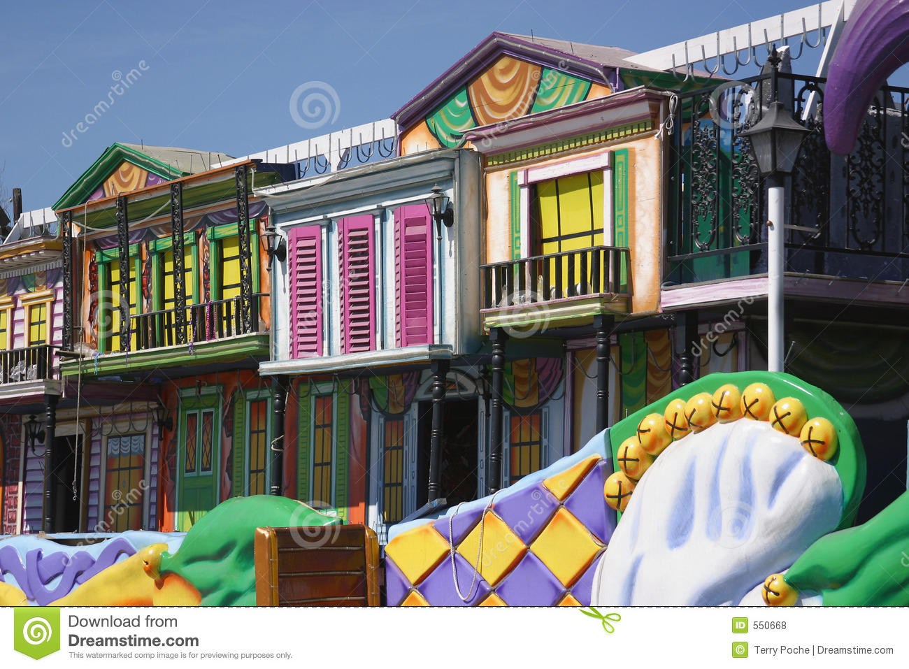 Download Colorful Mardi Gras Float Details Stock Photo - Image of gras, tuesday: 550668