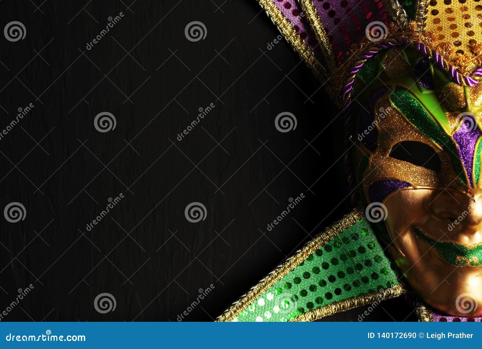 Colorful Mardi Gras mask background